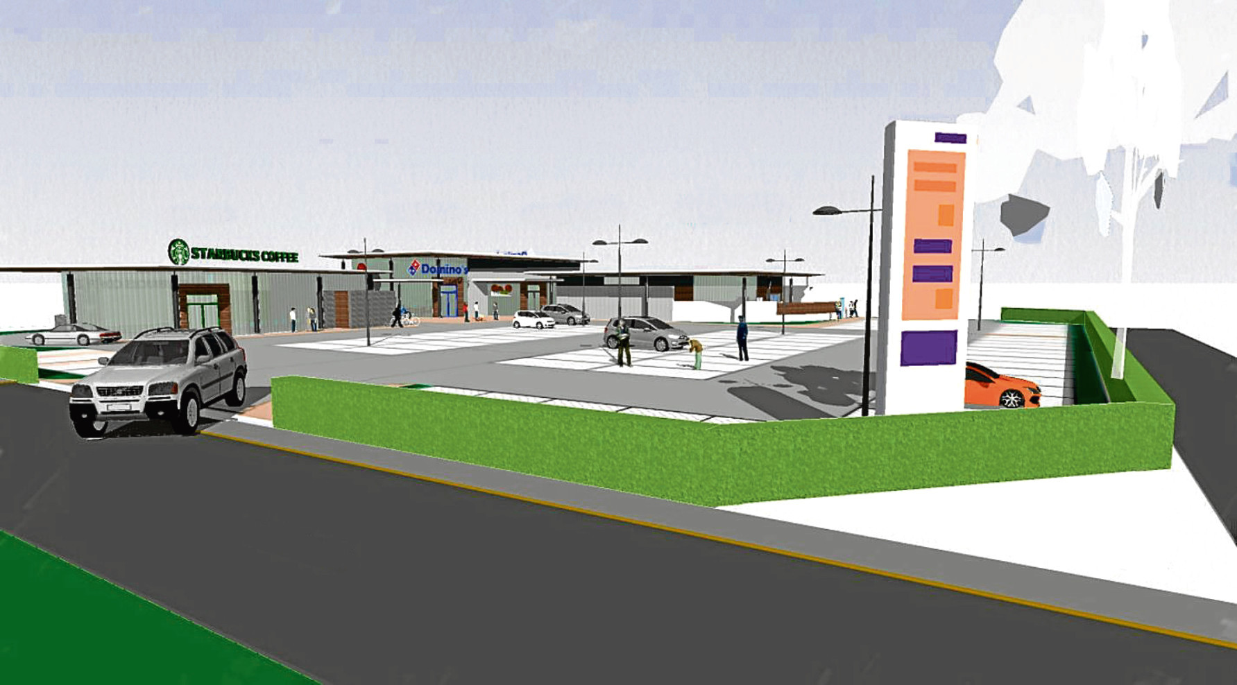 An artist's impression of the Dunsinane Industrial Estate plans