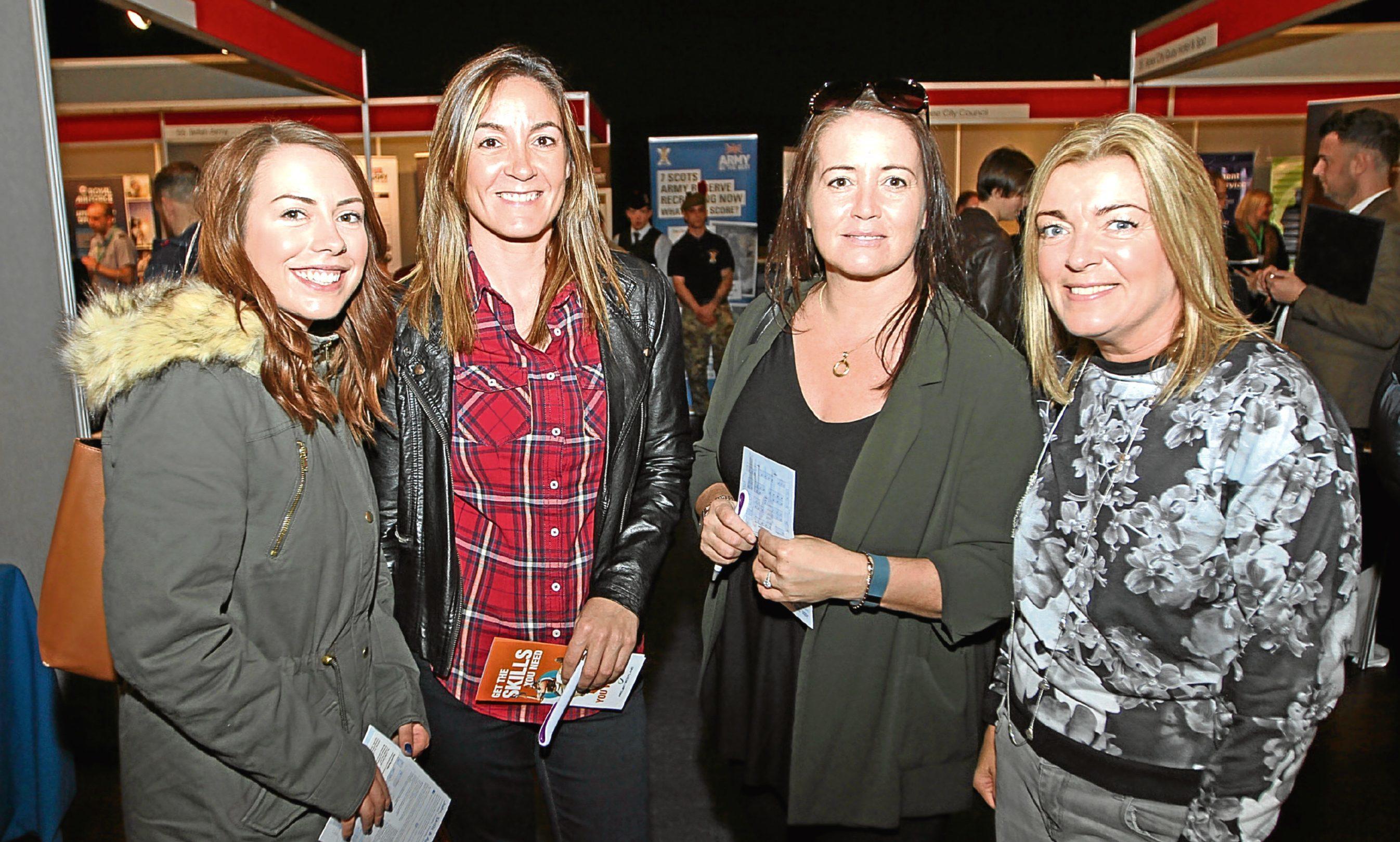 Ex-colleagues Hazel Harrison, Laura Napier, Nicola Peal and Kath Heenan.