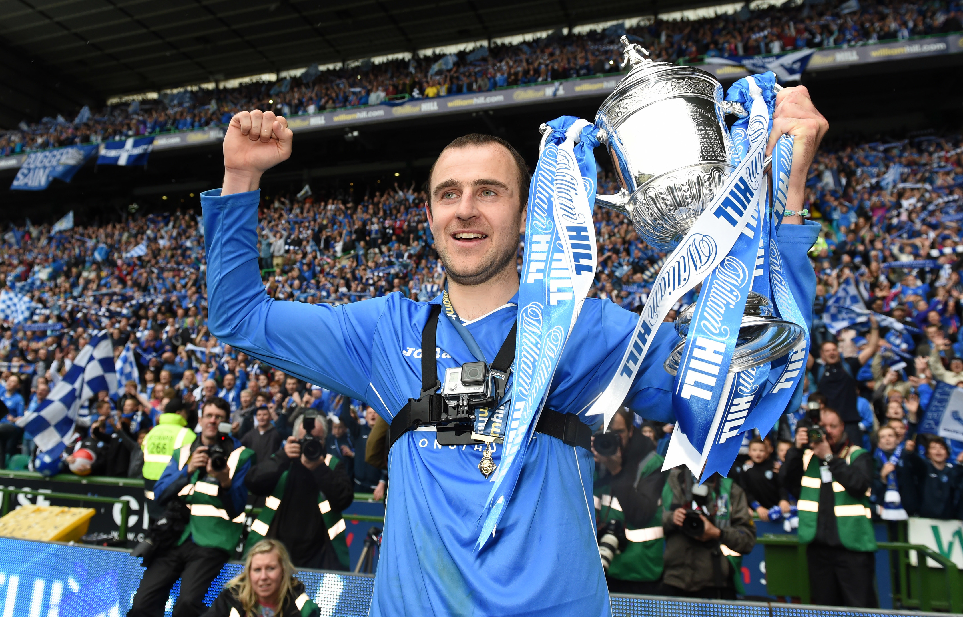 Dave Mackay won the Scottish Cup with St Johnstone in 2014