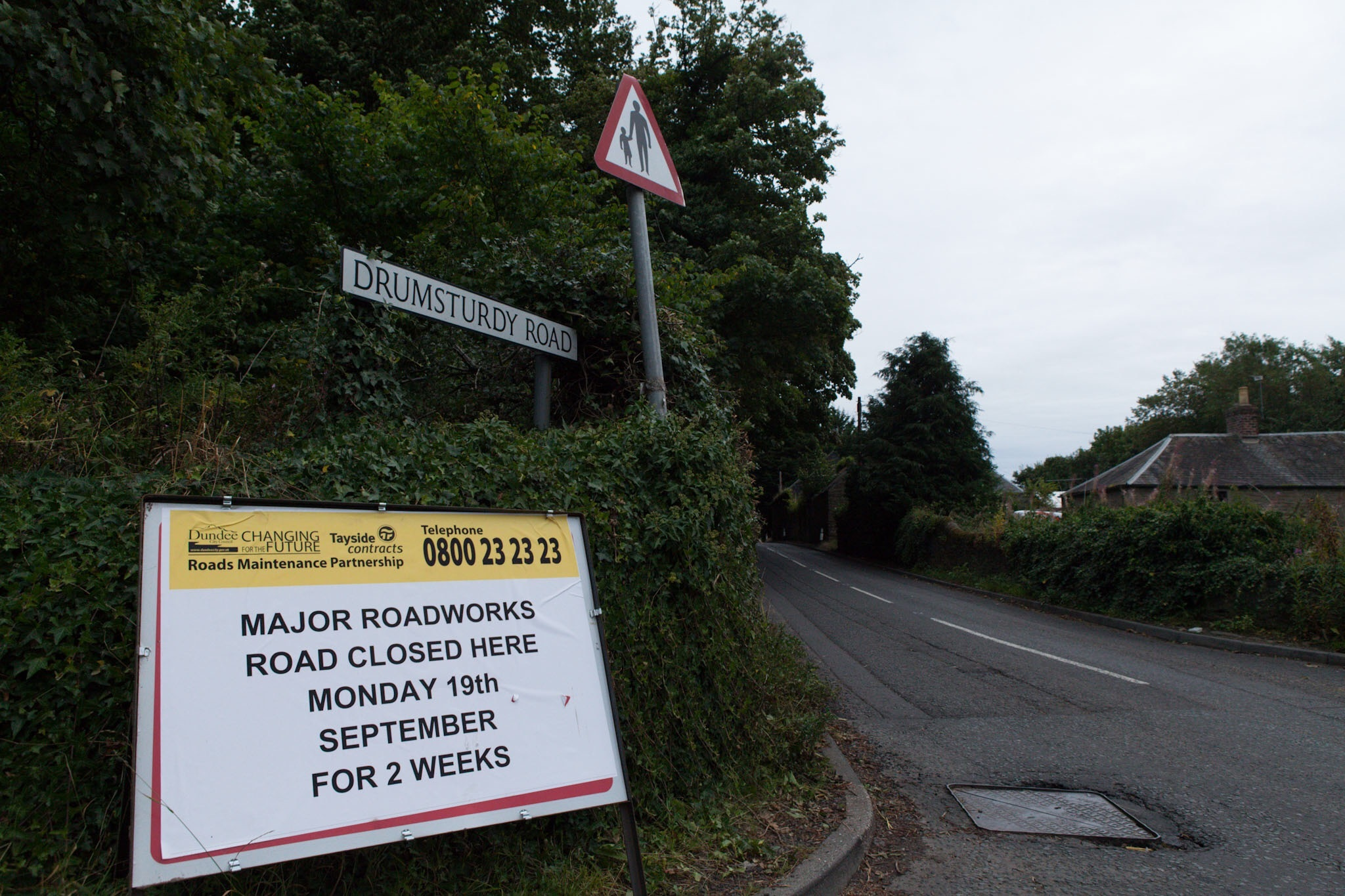 The roadworks are set to take place from September 19.