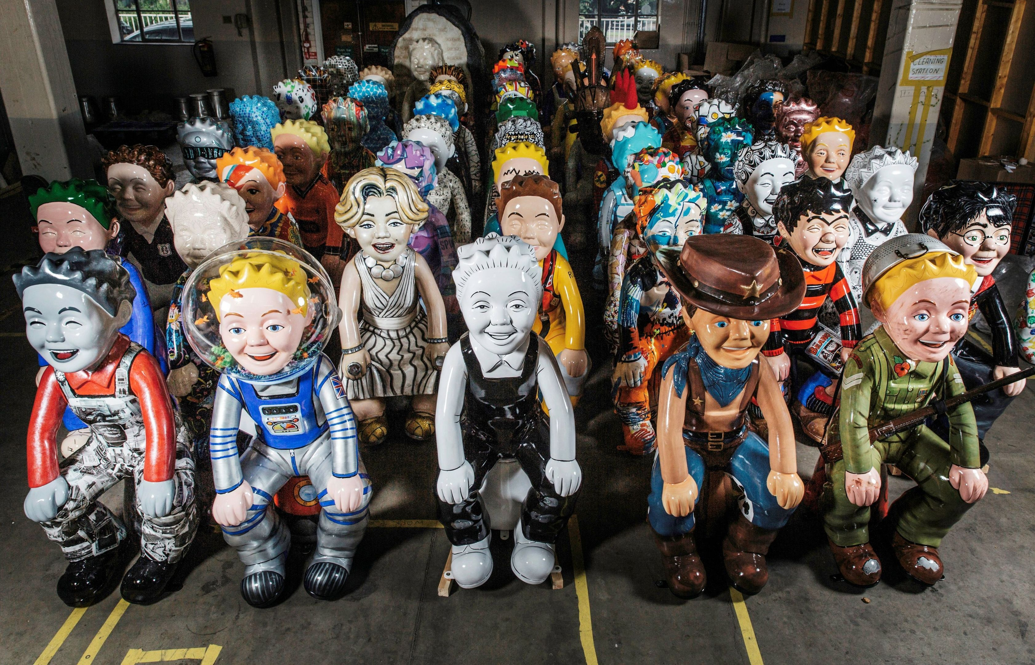 The Wullies waiting to go to their new homes.