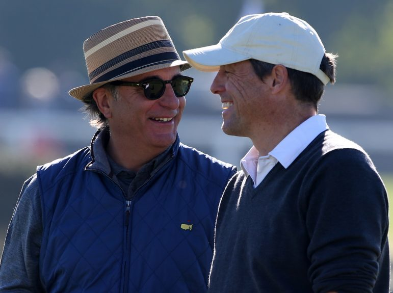Andy Garcia and Hugh Grant at last years Alfred Dunhill Links