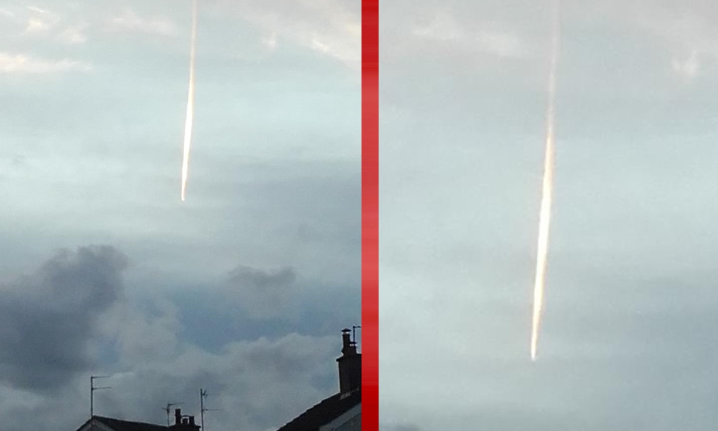 Images sent to the Tele show a mysterious bright line in the sky