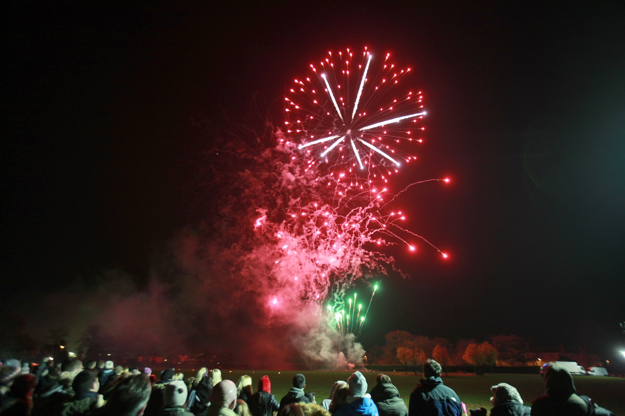 Crowds at a previous fireworks display held in the city's Baxter Park.