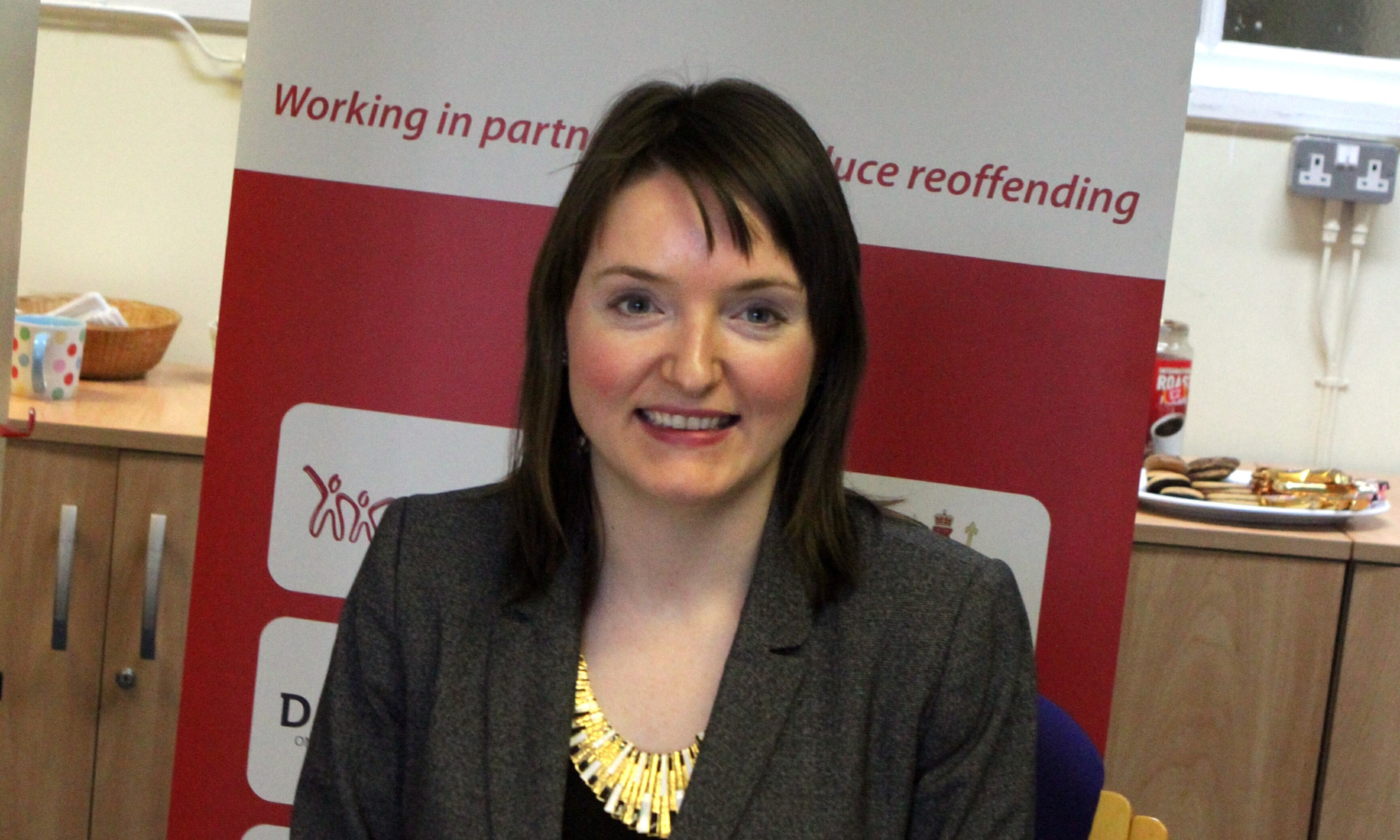 Karen Moir of the Tayside Community Justice Authority