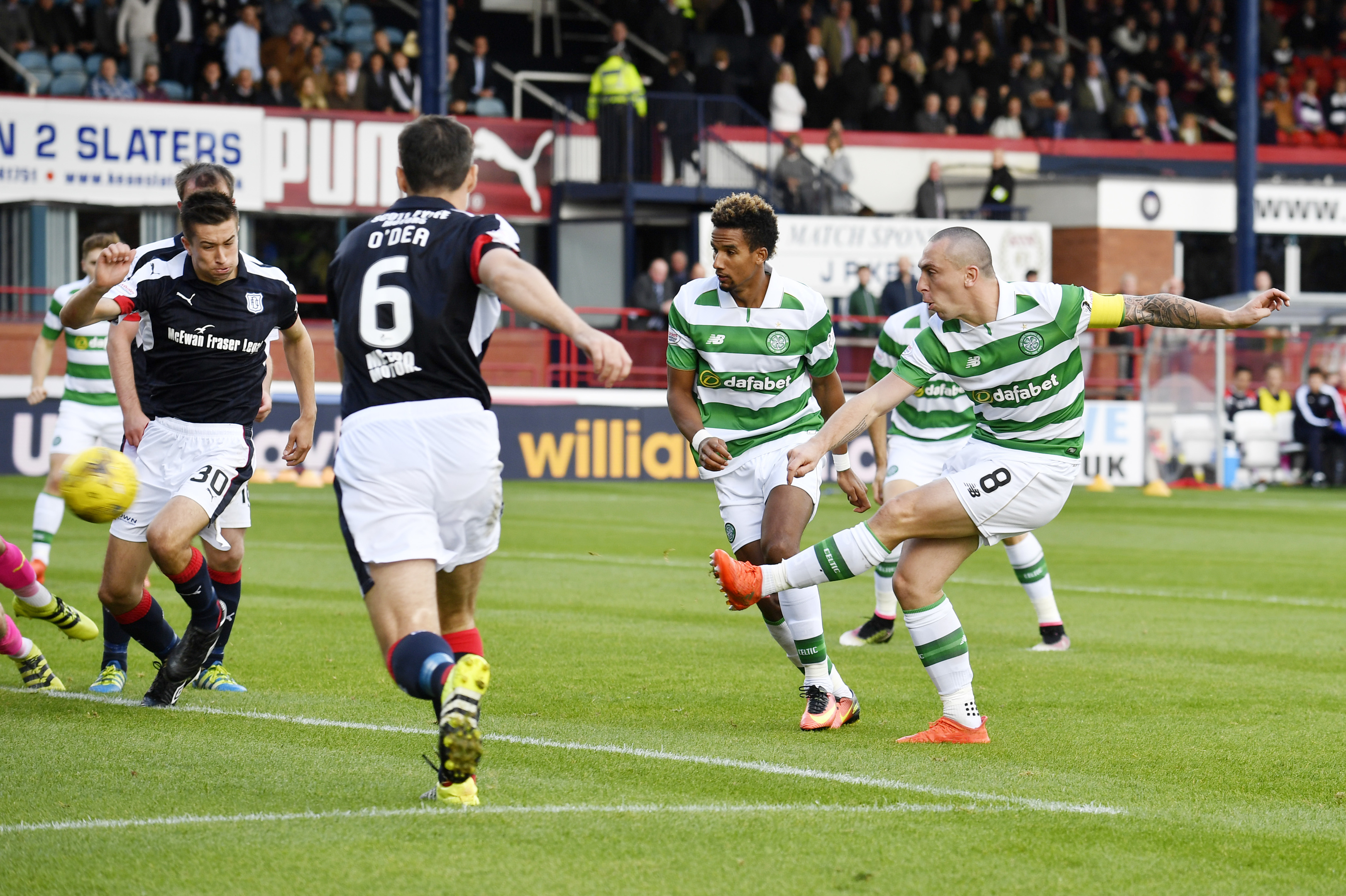 Scott Brown fires in the only goal of the game