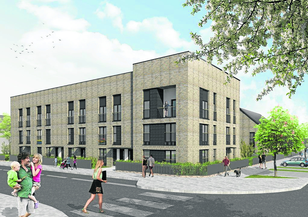 An artist's impression of the proposed development at Finavon Street.