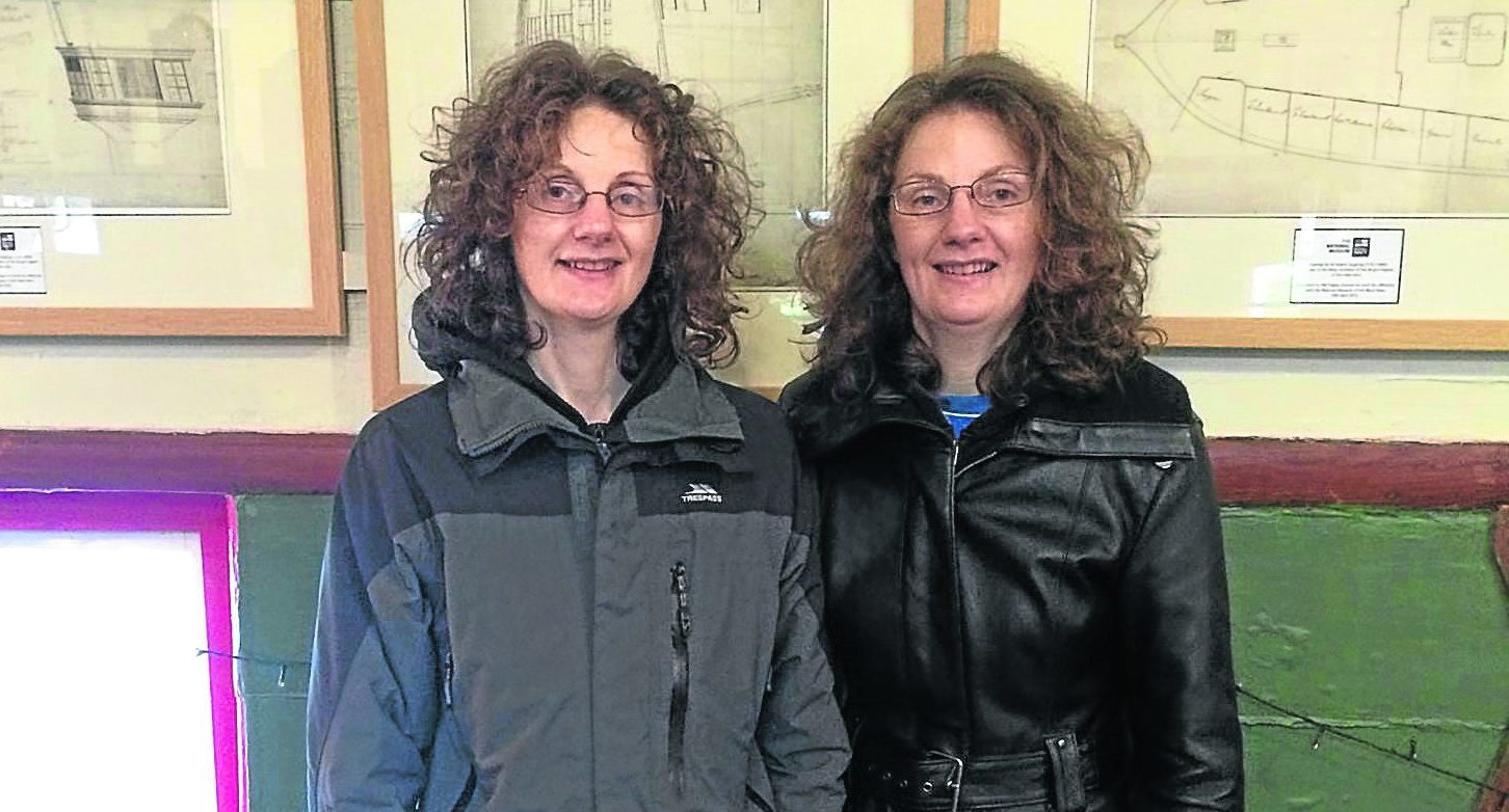 Twins Clare and Theresa Parks visited the ship after discovering their ancestor designed it.