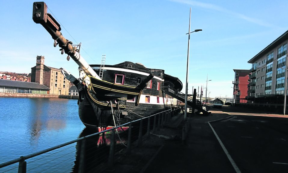 The HMS Unicorn.