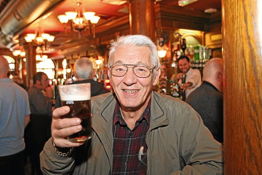 Tony Dikomite raises a glass to old age.
