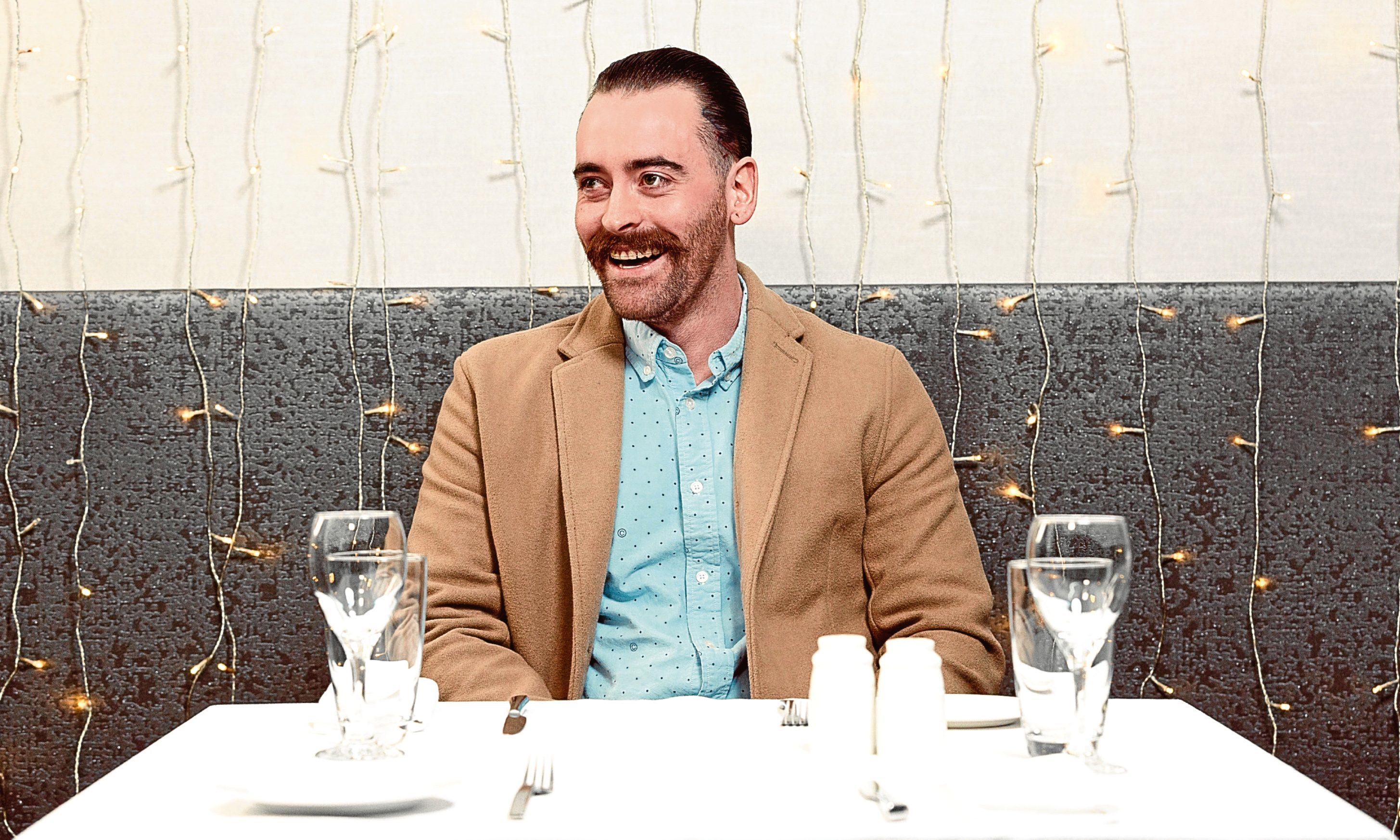 Martin, otherwise known as Eugene Thunder, appearing on First Dates. Photo courtesy of Hollow Creative.