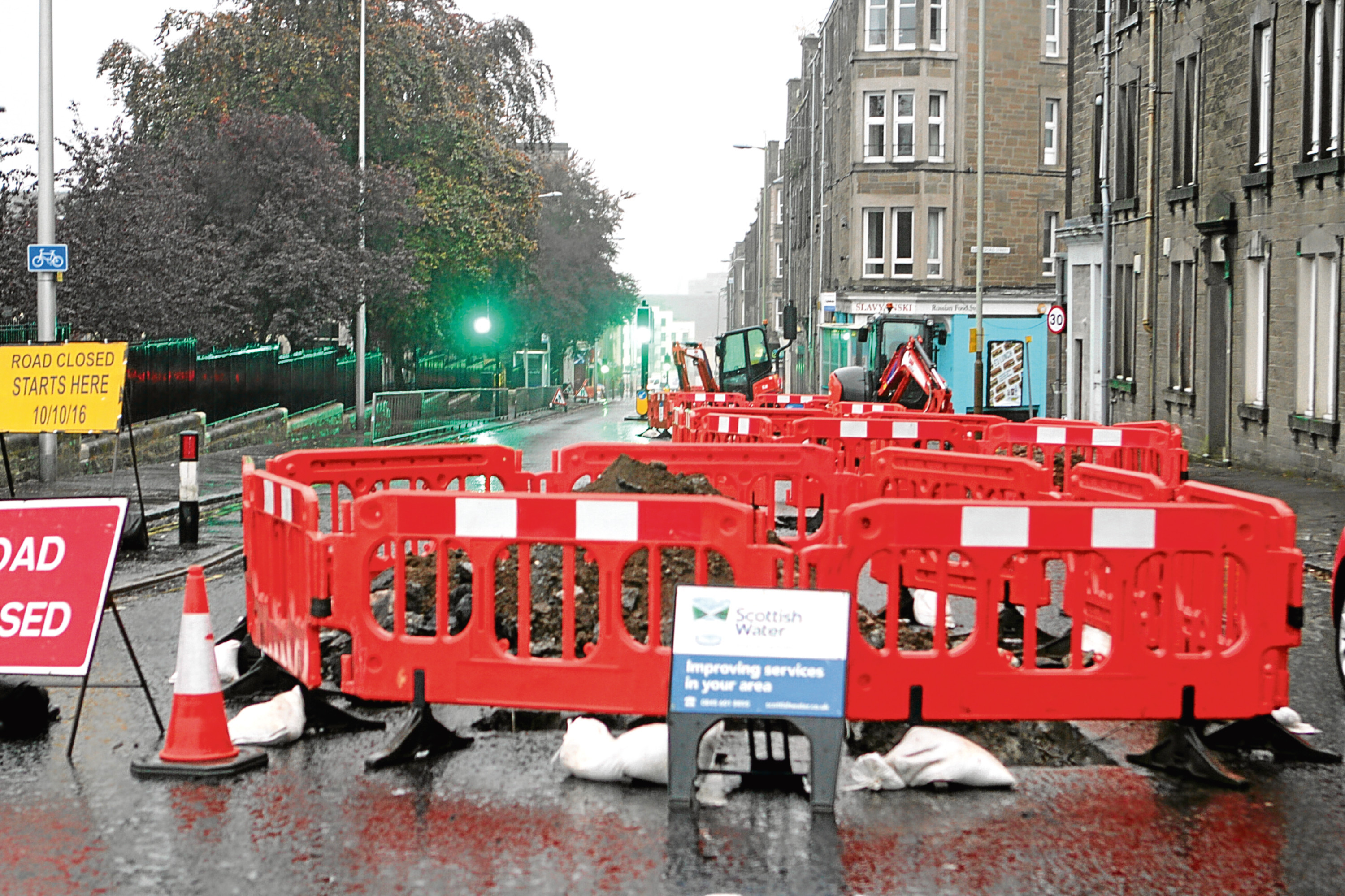 The last time Scottish Water carried out work on Blackness Road