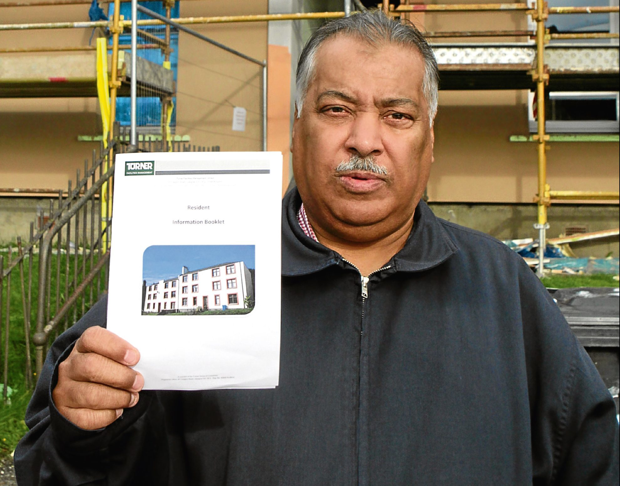 Mohammed Aslem was so disappointed with the colour scheme he started a petition bidding to have it changed.