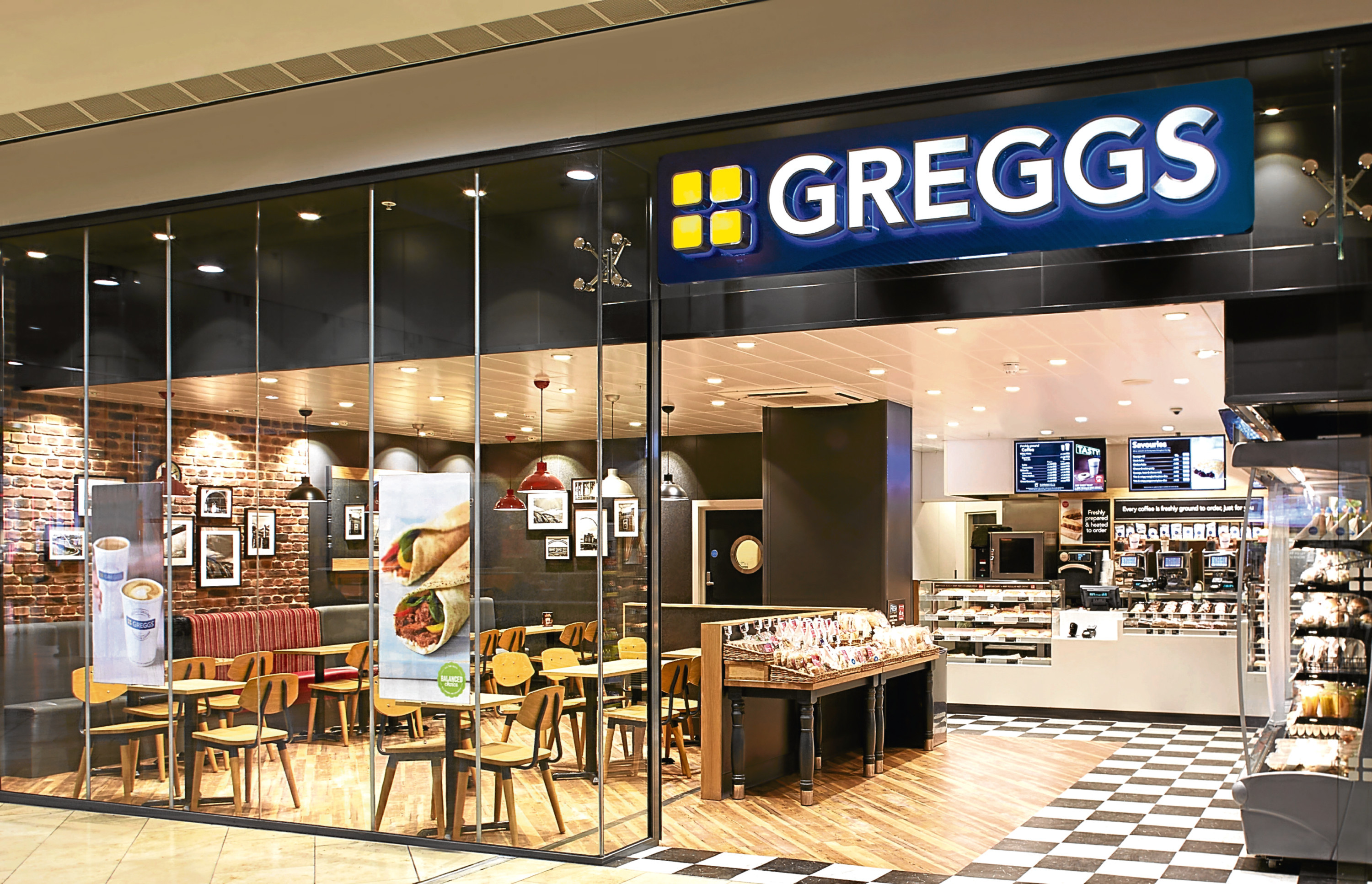 An image of the new Greggs sit-in store which is set to open its doors in the city's High Street this week.