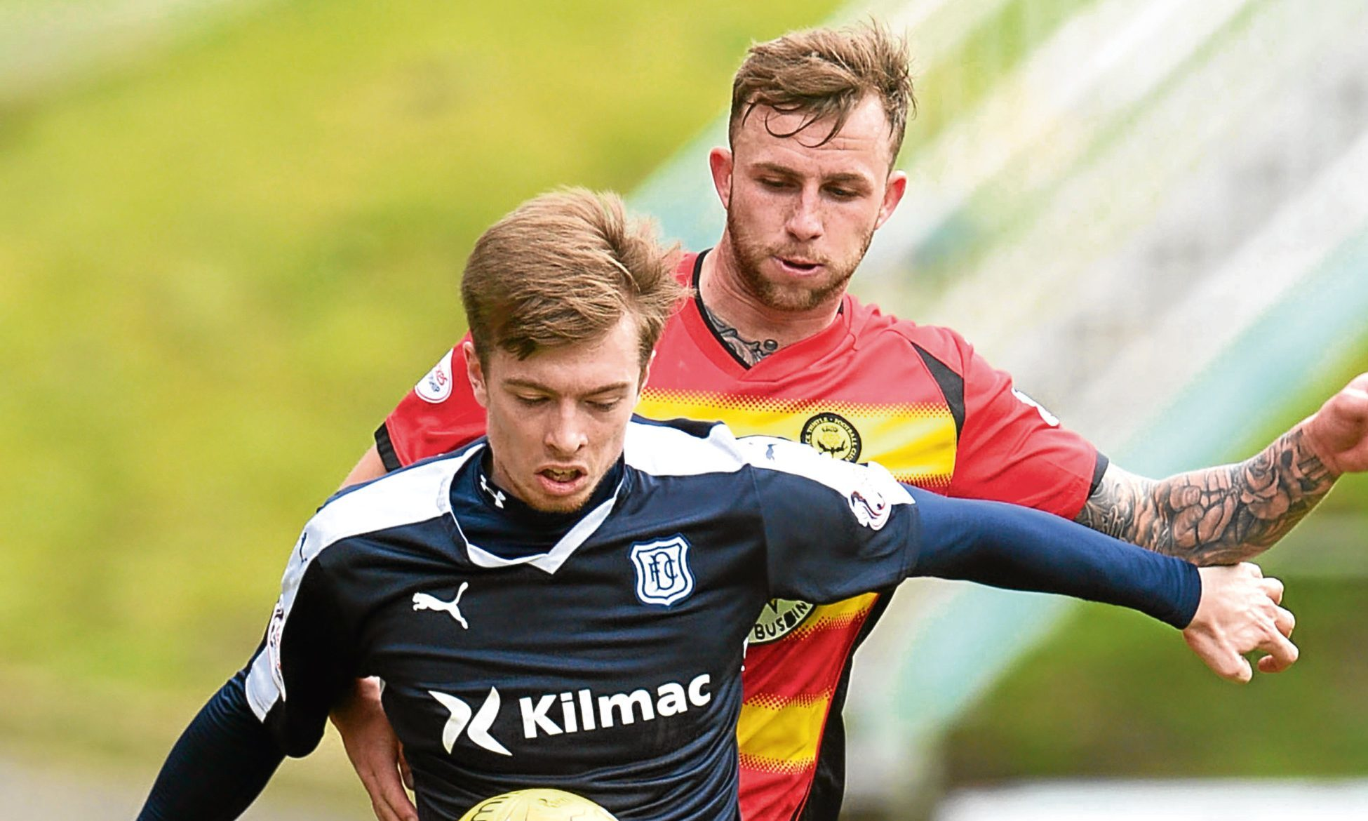 Craig Wighton in action the last time Dundee met Partick in a 2-1 victory at Firhill in April — a similar result is sorely need by the Dark Blues tonight.