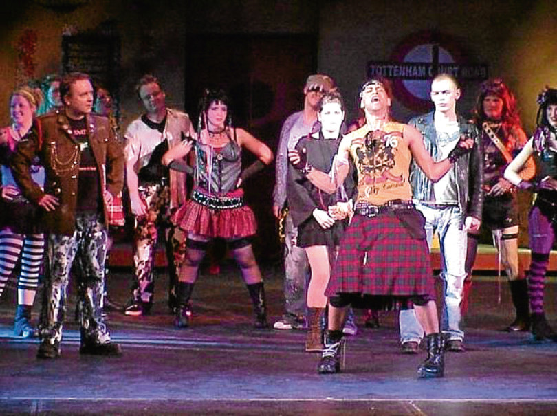 Apex Productions performing We Will Rock You in 2007. The show cost £40,000 to stage but raised £27,000 for charity.