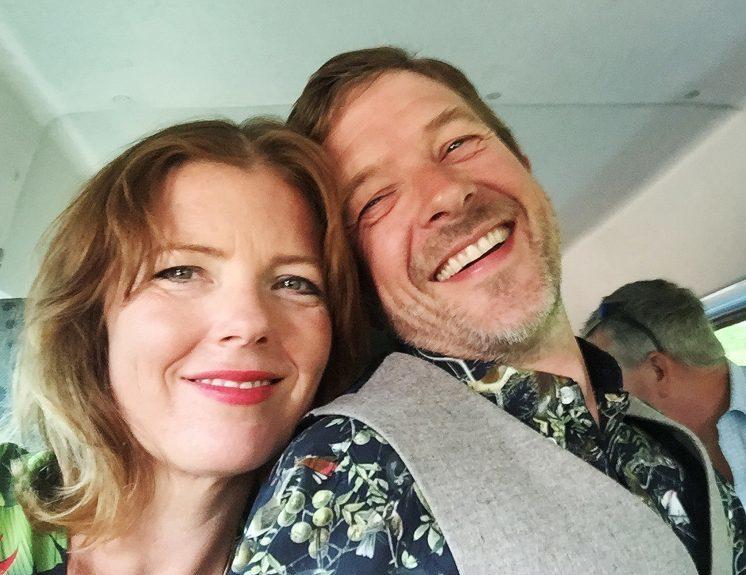 Carmen Greenway with her husband Rufus.