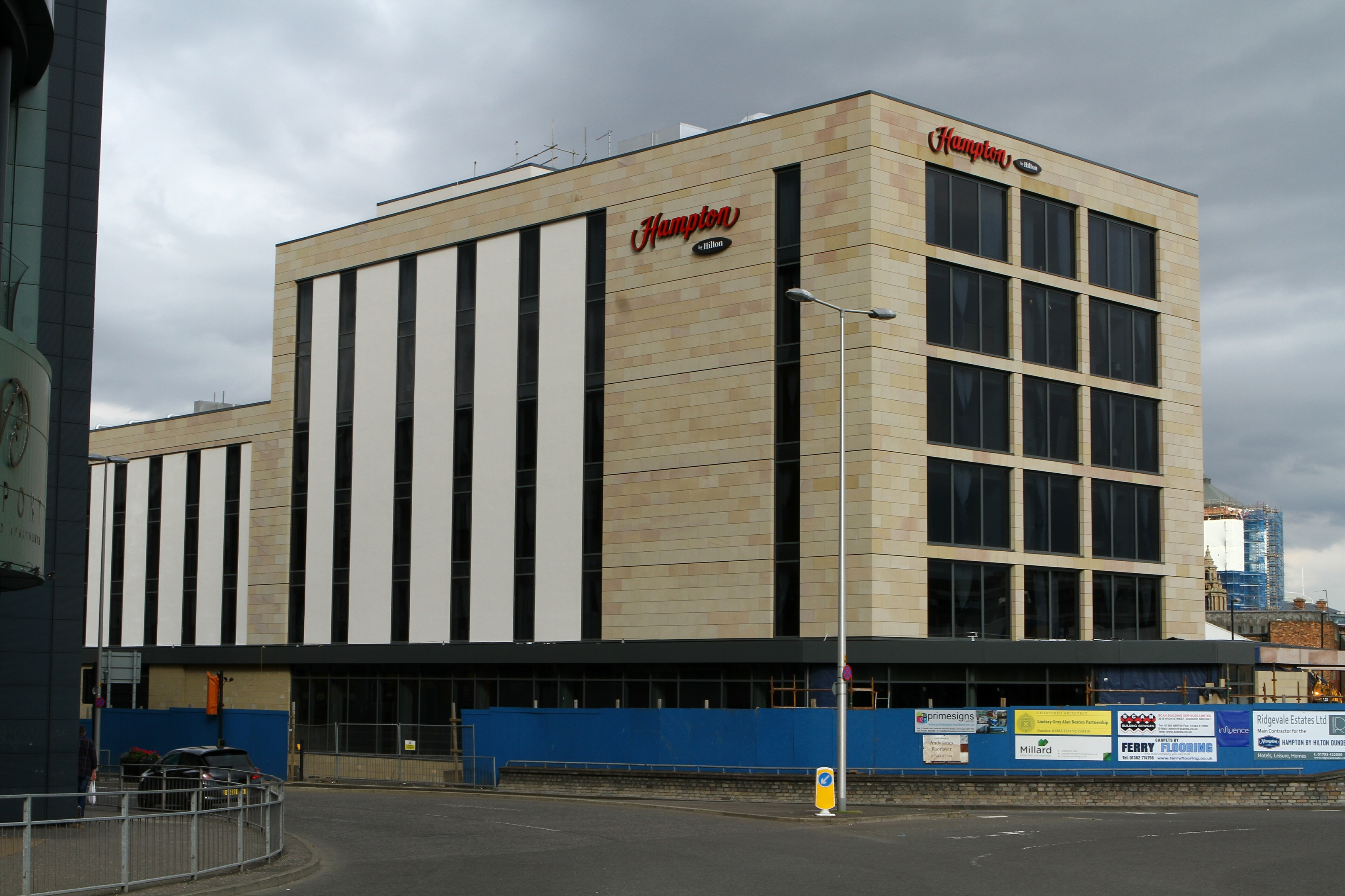 The new Hampton by Hilton Hotel.
