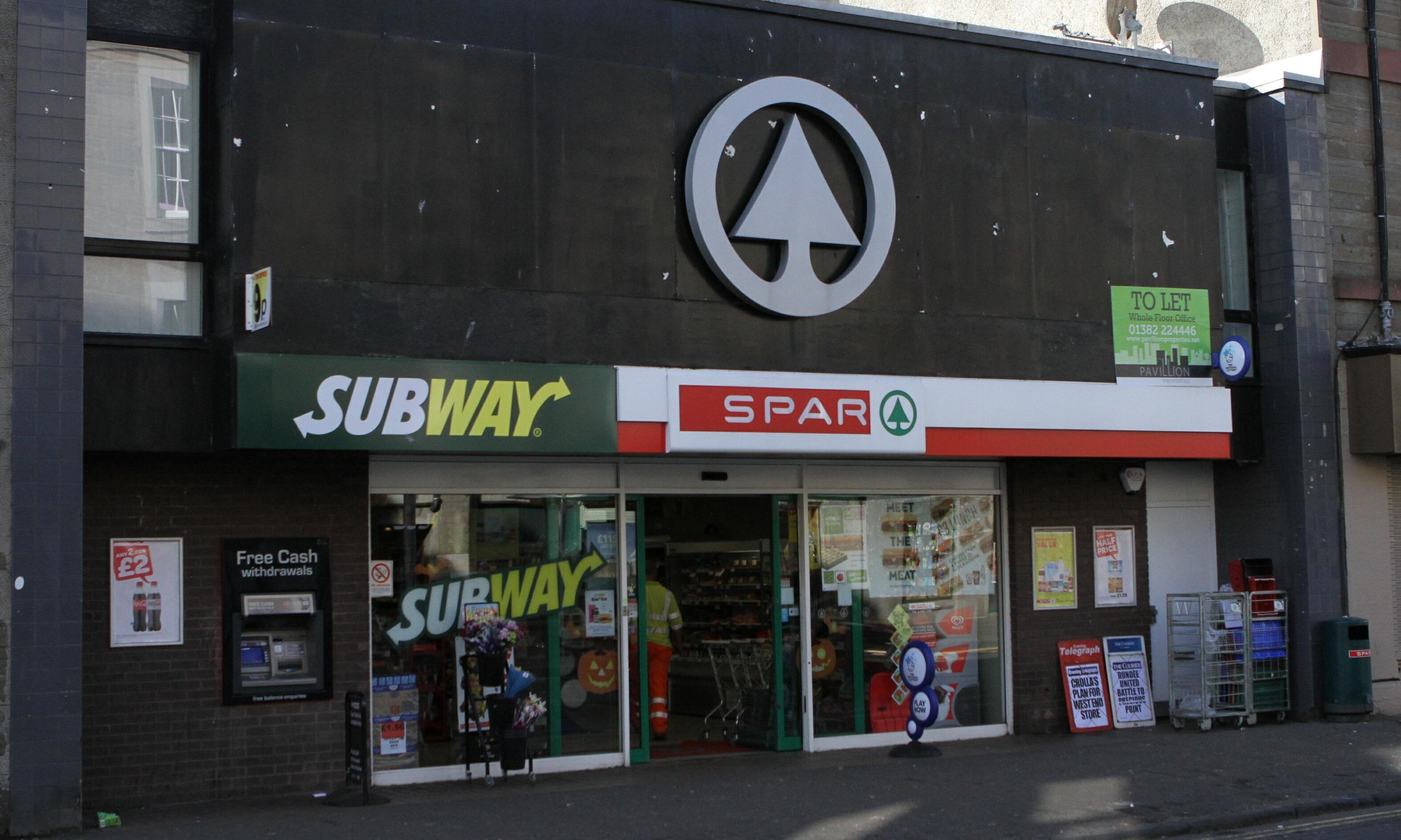 The Spar shop in Perth Road.