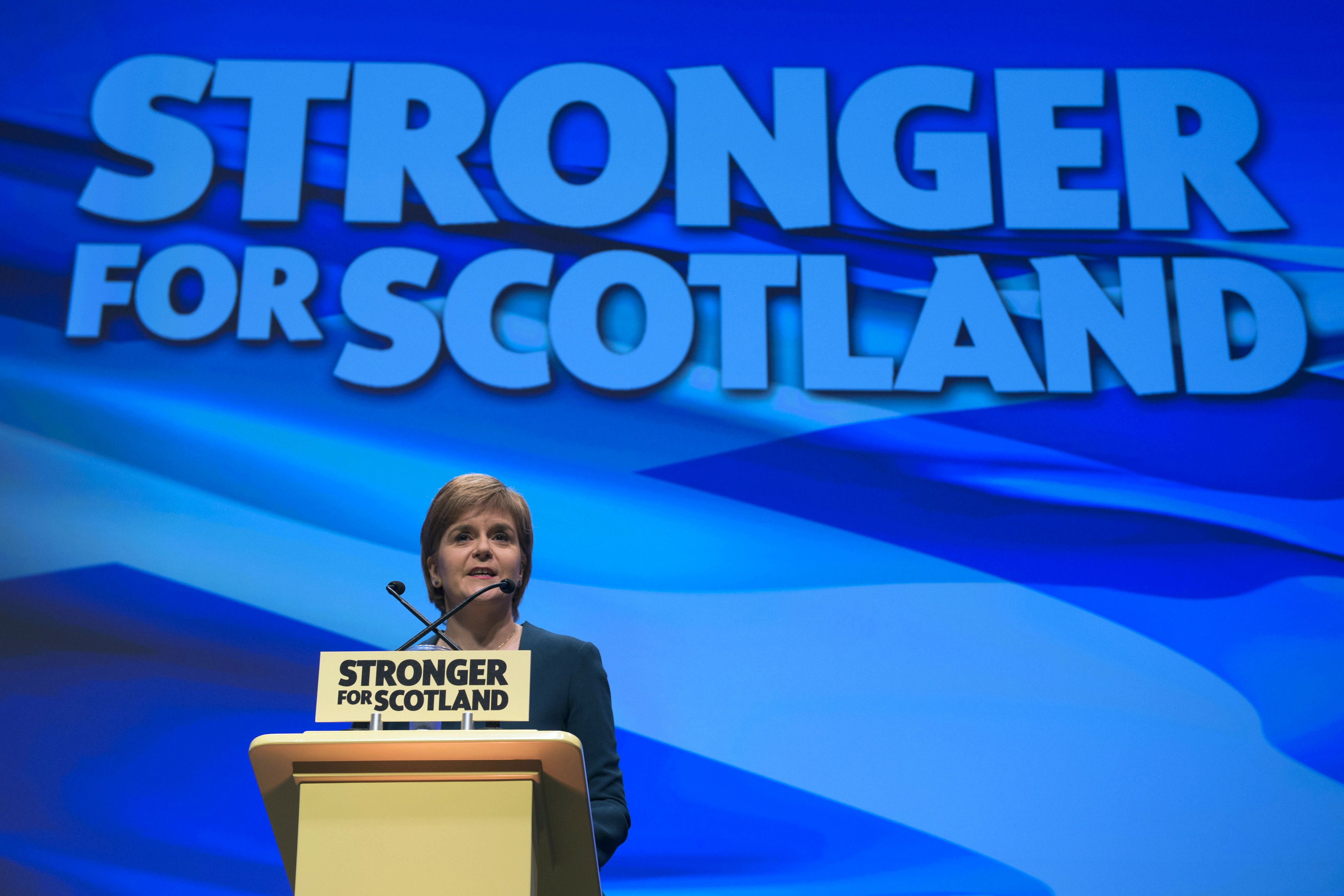 First Minister of Scotland and the leader of the Scottish National Party Nicola Sturgeon speaking as the SNP's conference begins in Glasgow.