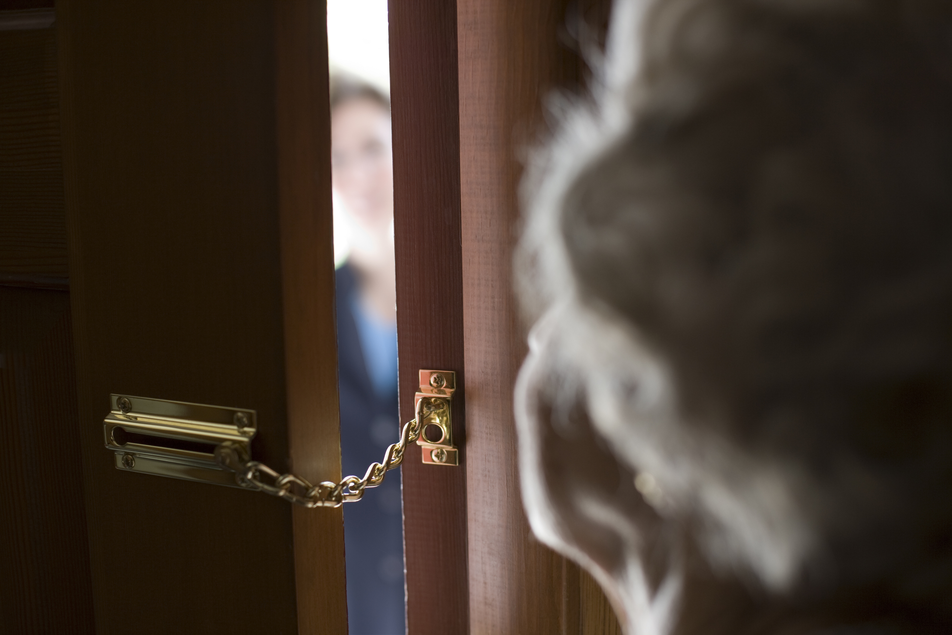 Strangers at the door? Think twice before letting them in