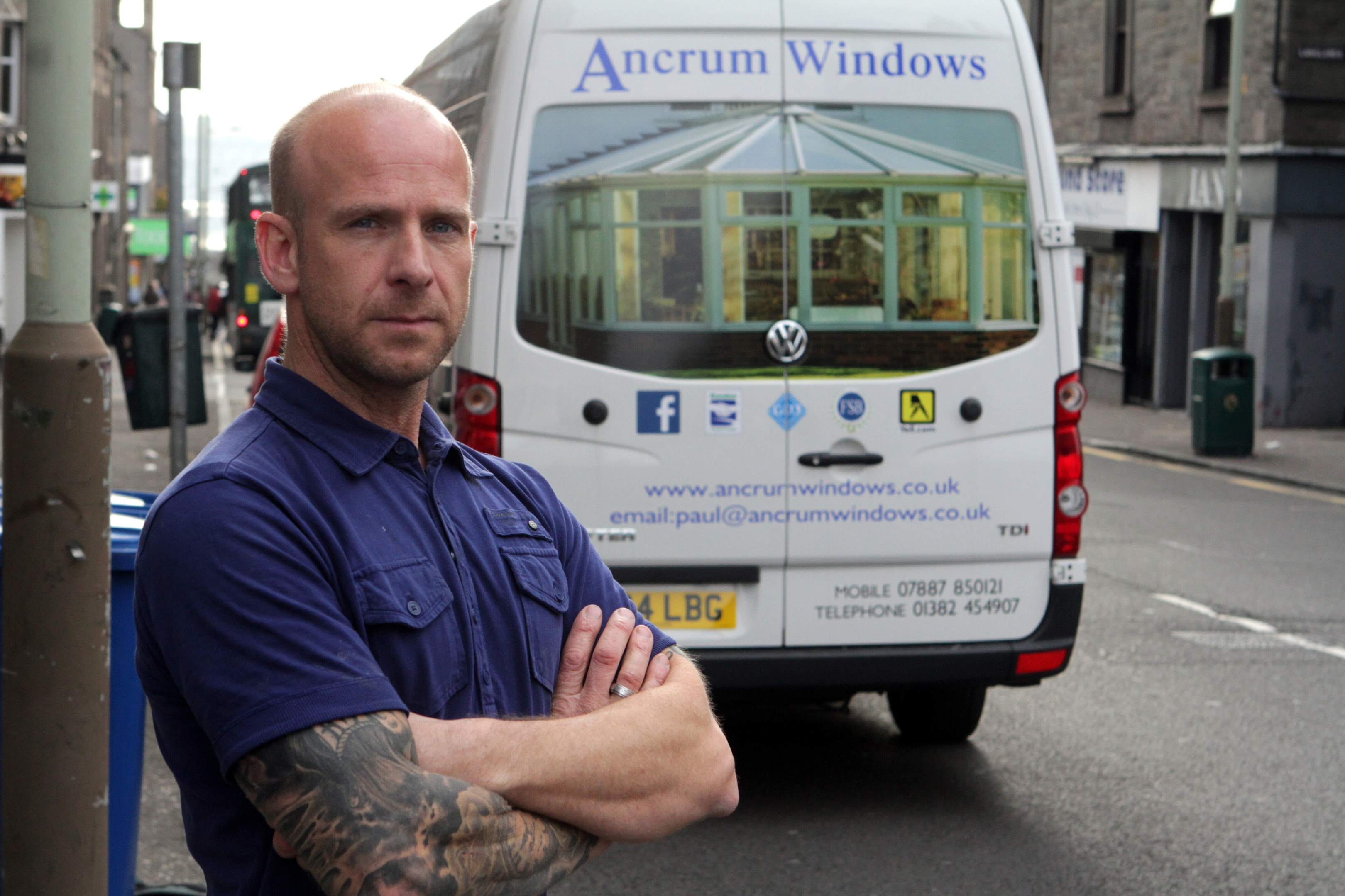 Paul Anderson, who had tools stolen from his van.
