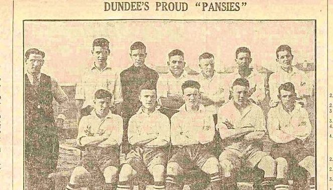 The Scottish Cup-winning Dundee Violet side from 1929.