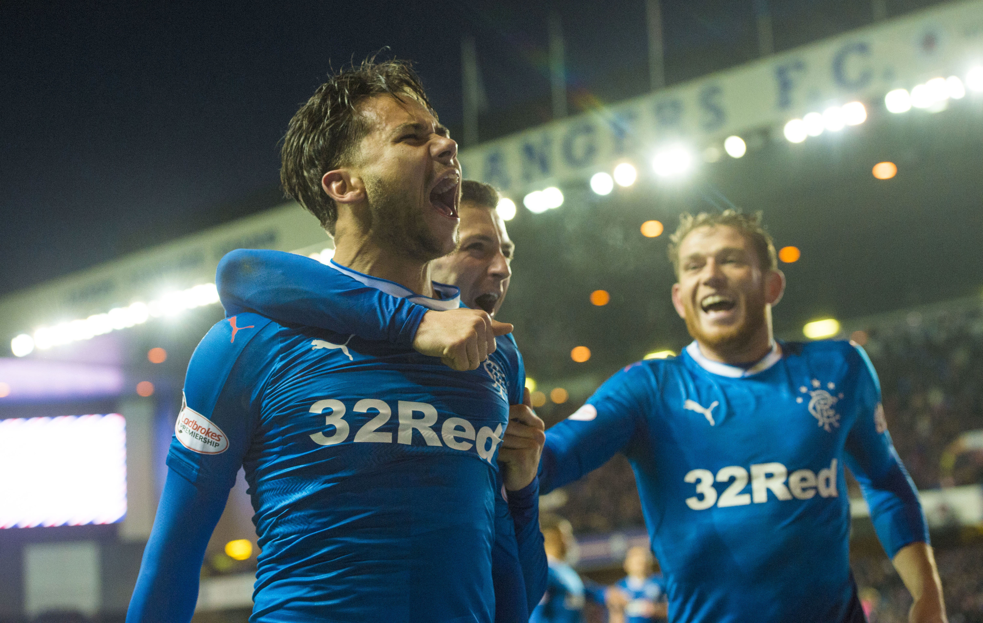 Harry Forrester celebrates his late winner