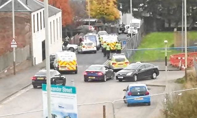 A large police presence was seen in the area at the time.