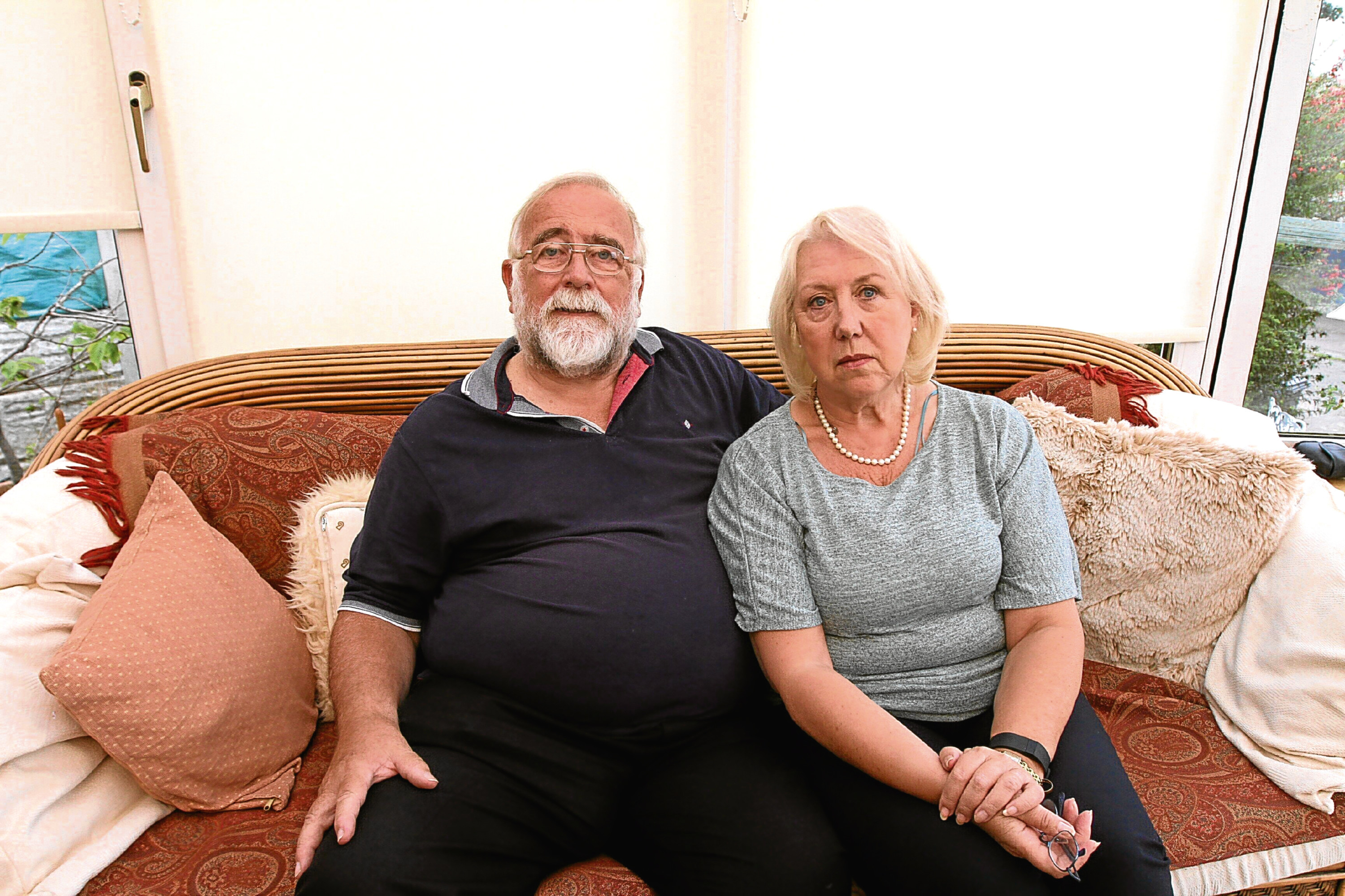 David and Dorothy Brown, pictured at their home in Dundee after revealing their wait for an appointment.
