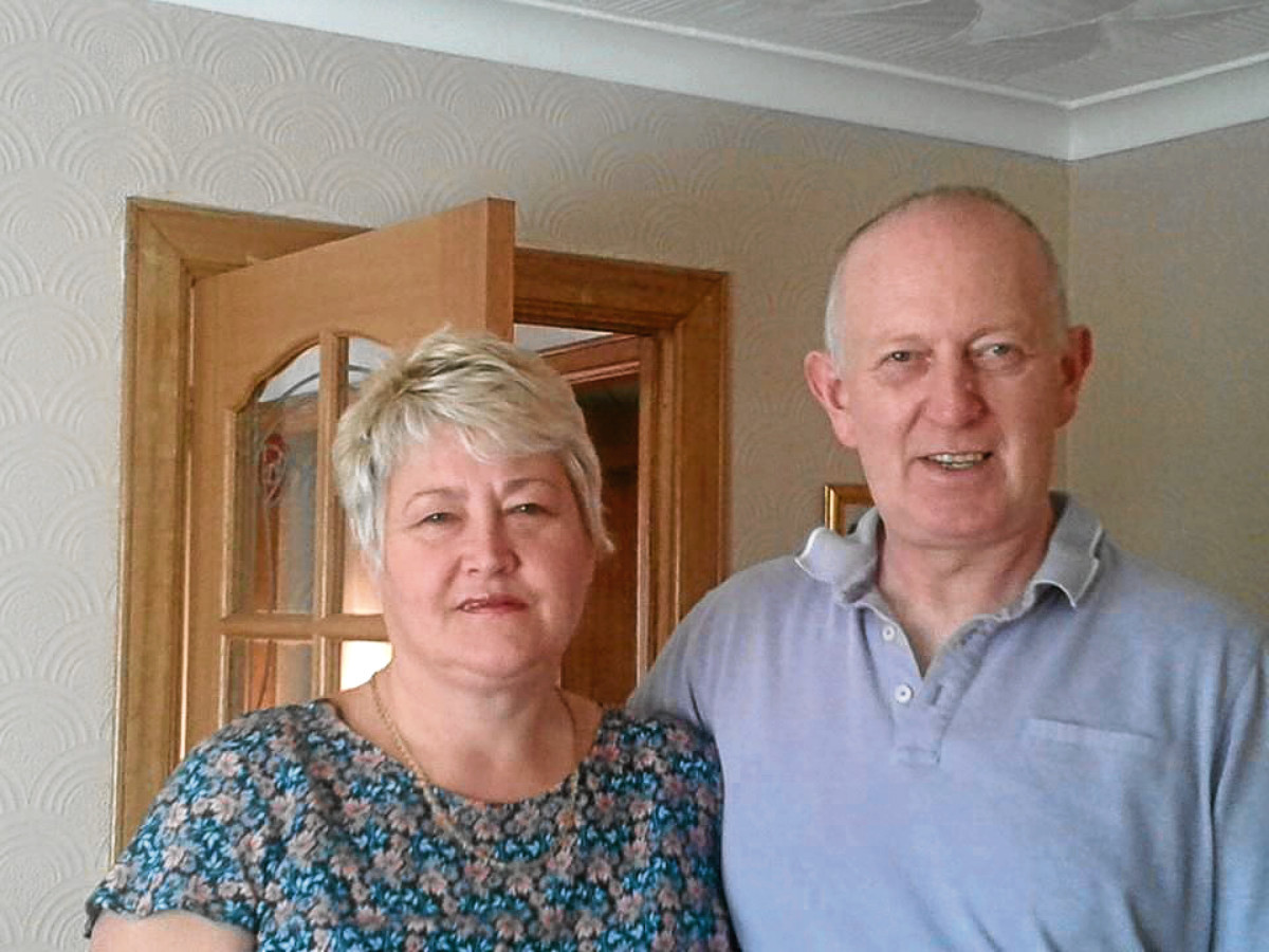 Lynne and Allan Shaw are now counting the cost of the break-in.