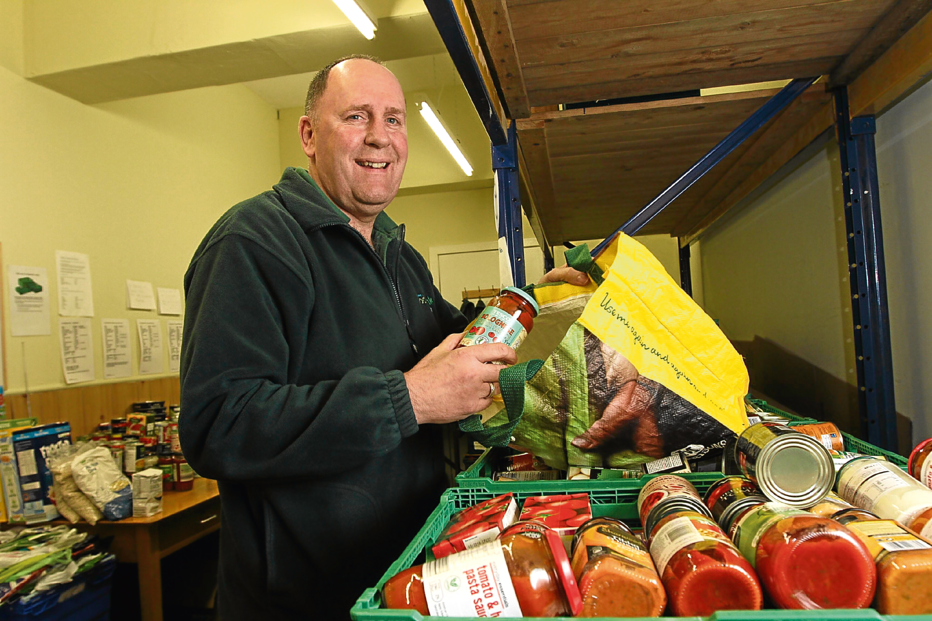 Ken Linton said volunteers at the foodbank are particularly worried about the rise in child poverty in Dundee.
