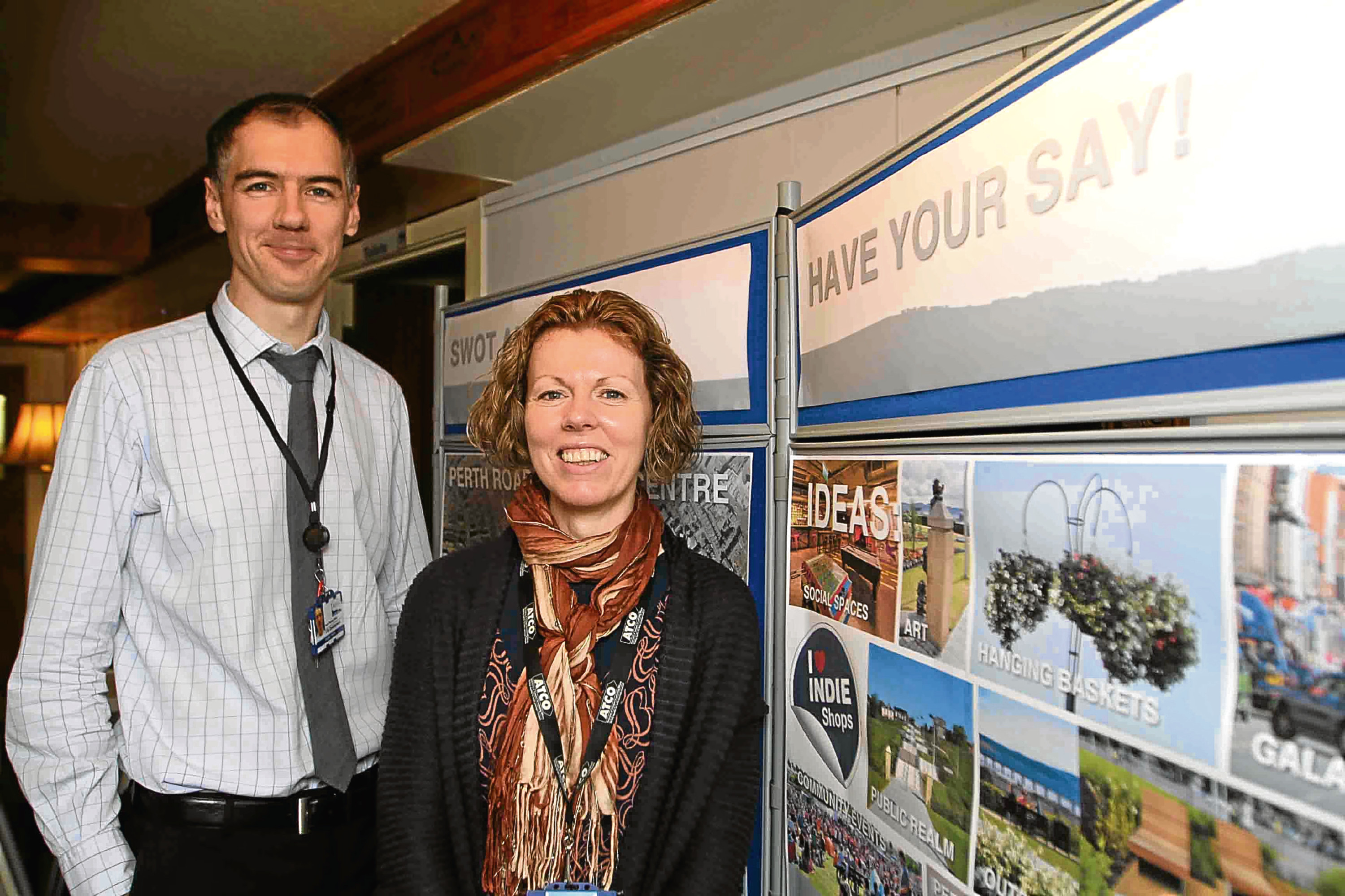 Senior planning officer for city development Alistair Hilton and planning officer Siobhan Johnson.