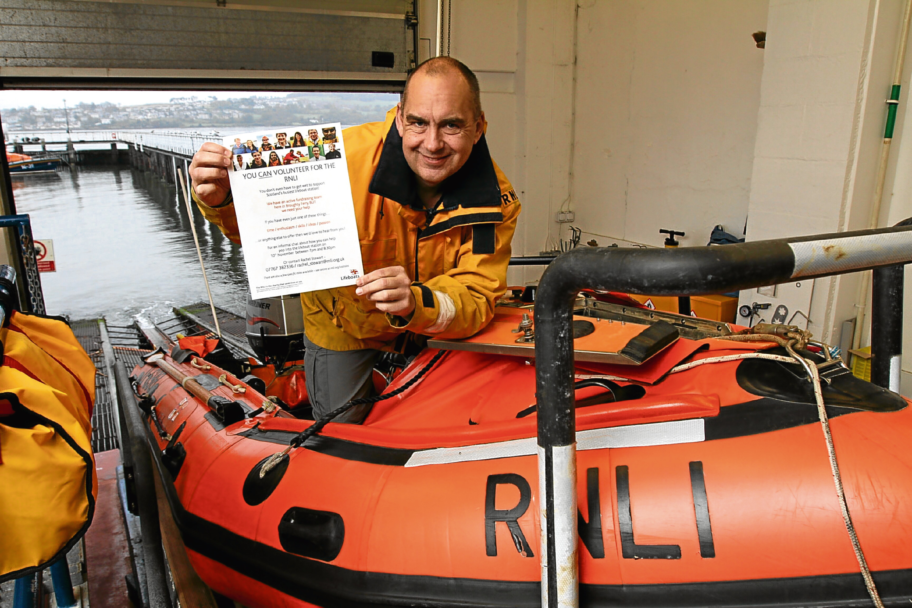 Murray Brown, coxswain at Broughty Ferry Lifeboat Station, which has launched a drive to recruit fundraisers.