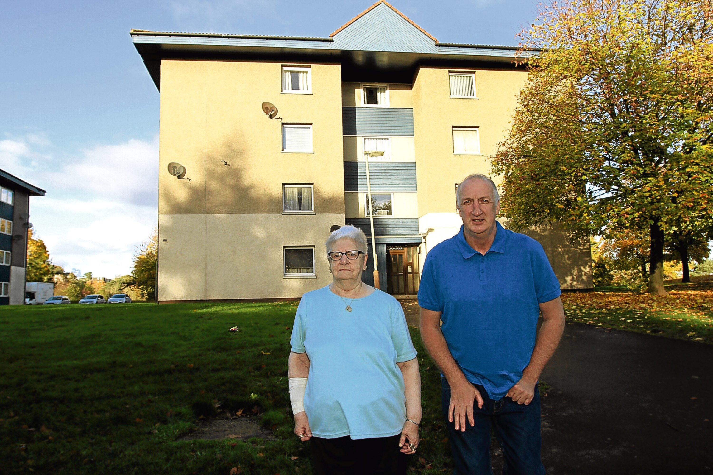Agnes Keith, 82, and Garry Lawrence, 55, say they are being terrorised in their own flats.