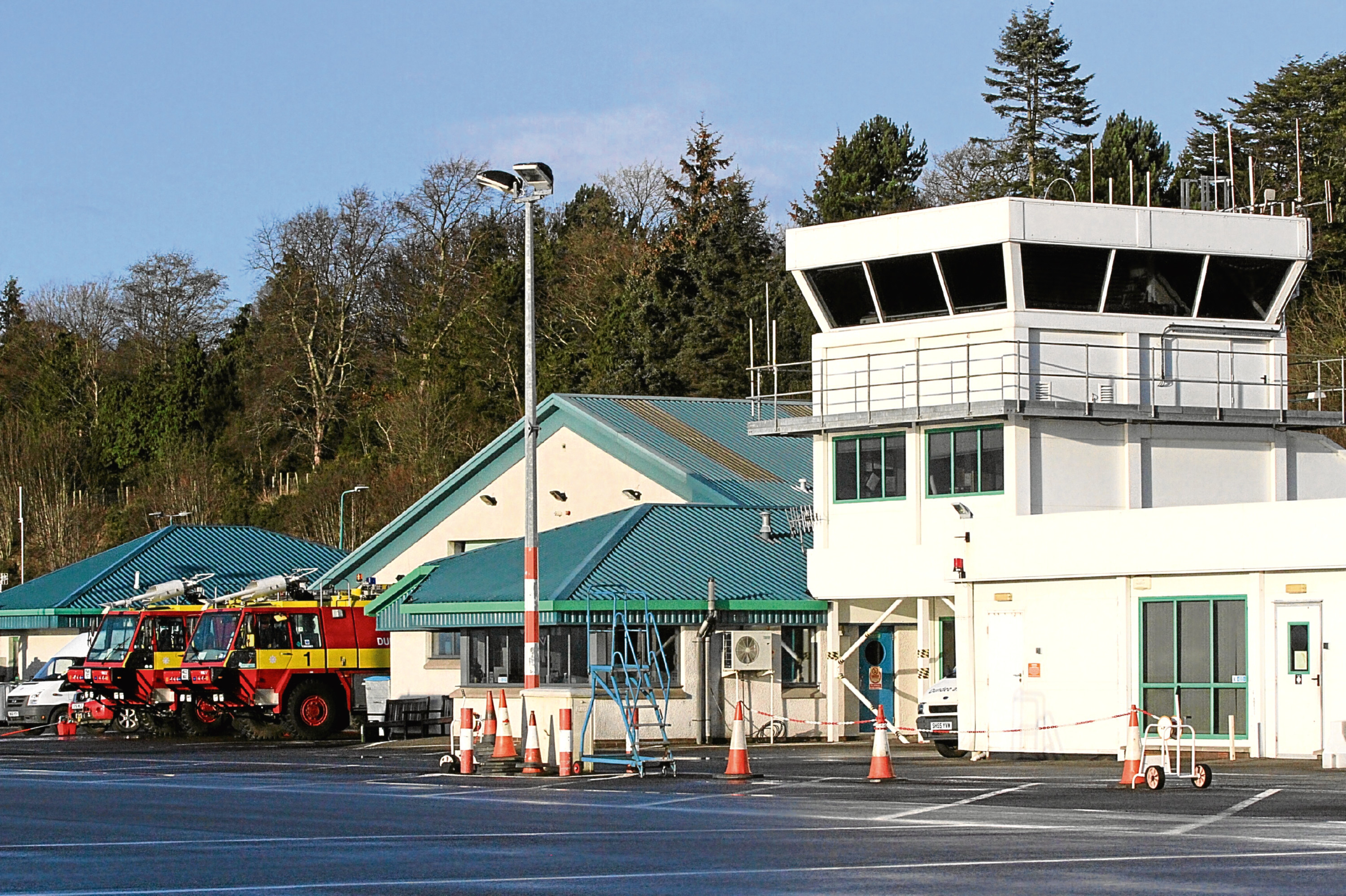 Dundee Airport's main terminal building. The hub currently has routes to London Stansted and Amsterdam —	but has now lost its summer service to Jersey.