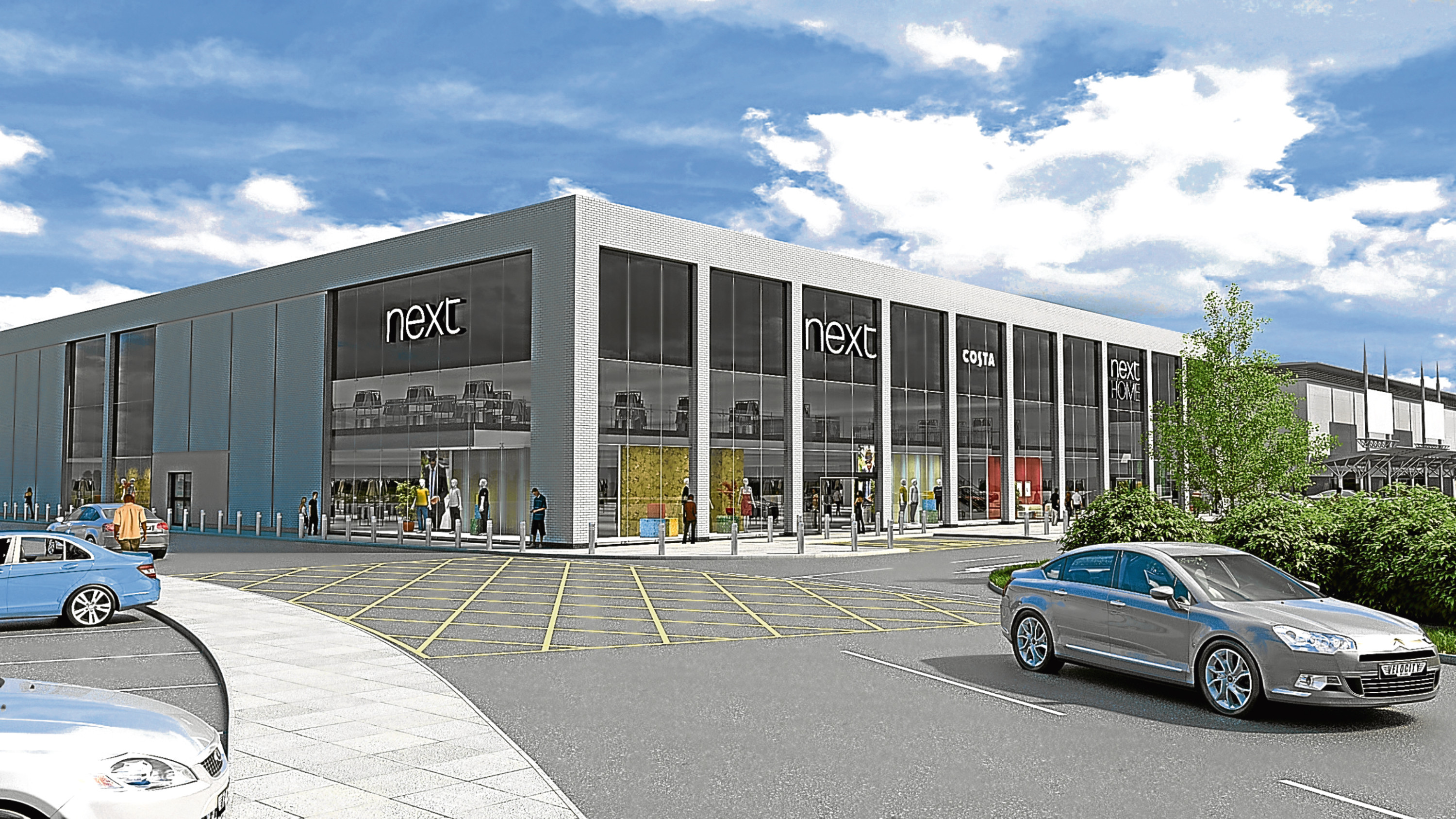 An artist's impression of the proposed Next store.