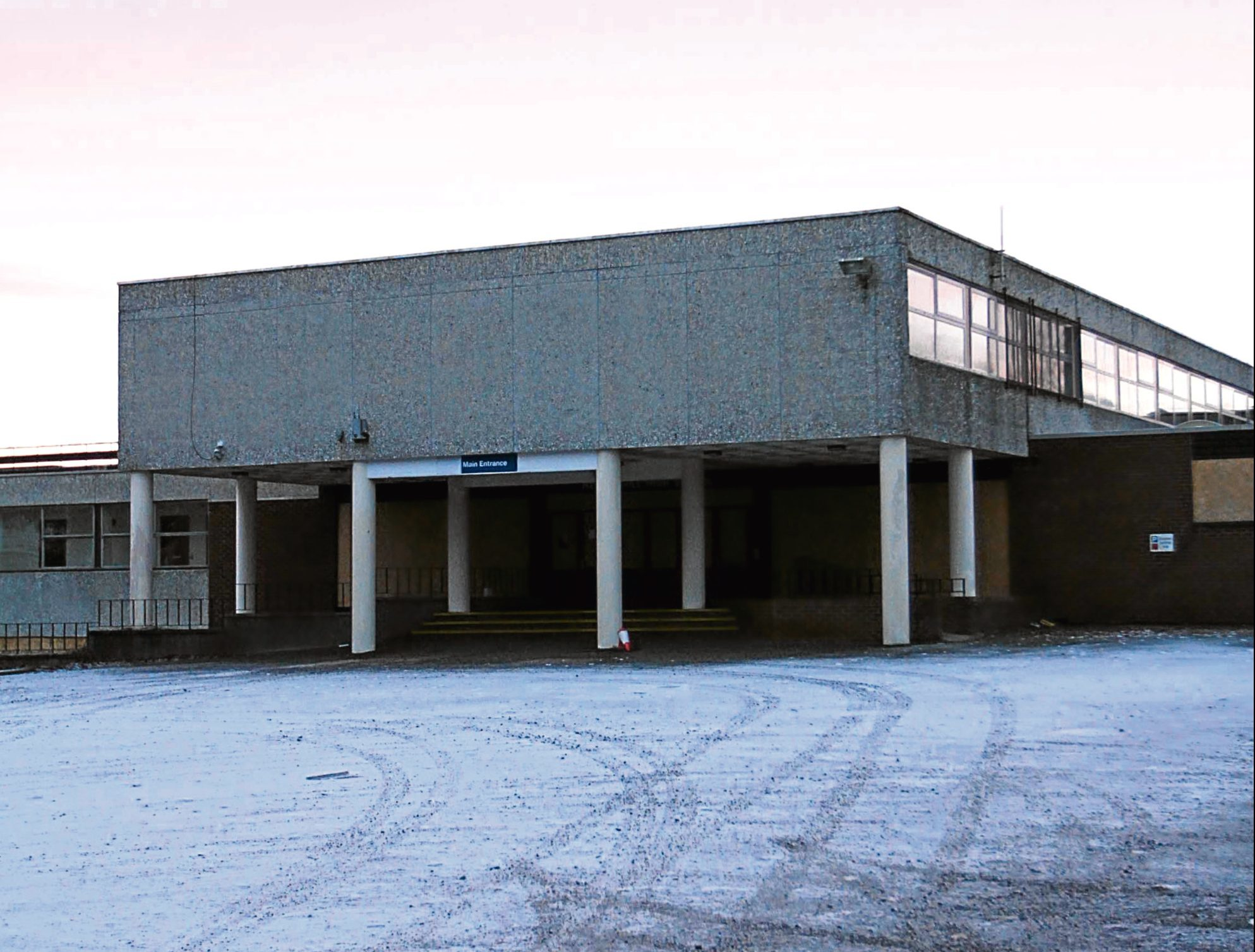 Menzieshill High School, which will soon be knocked down.