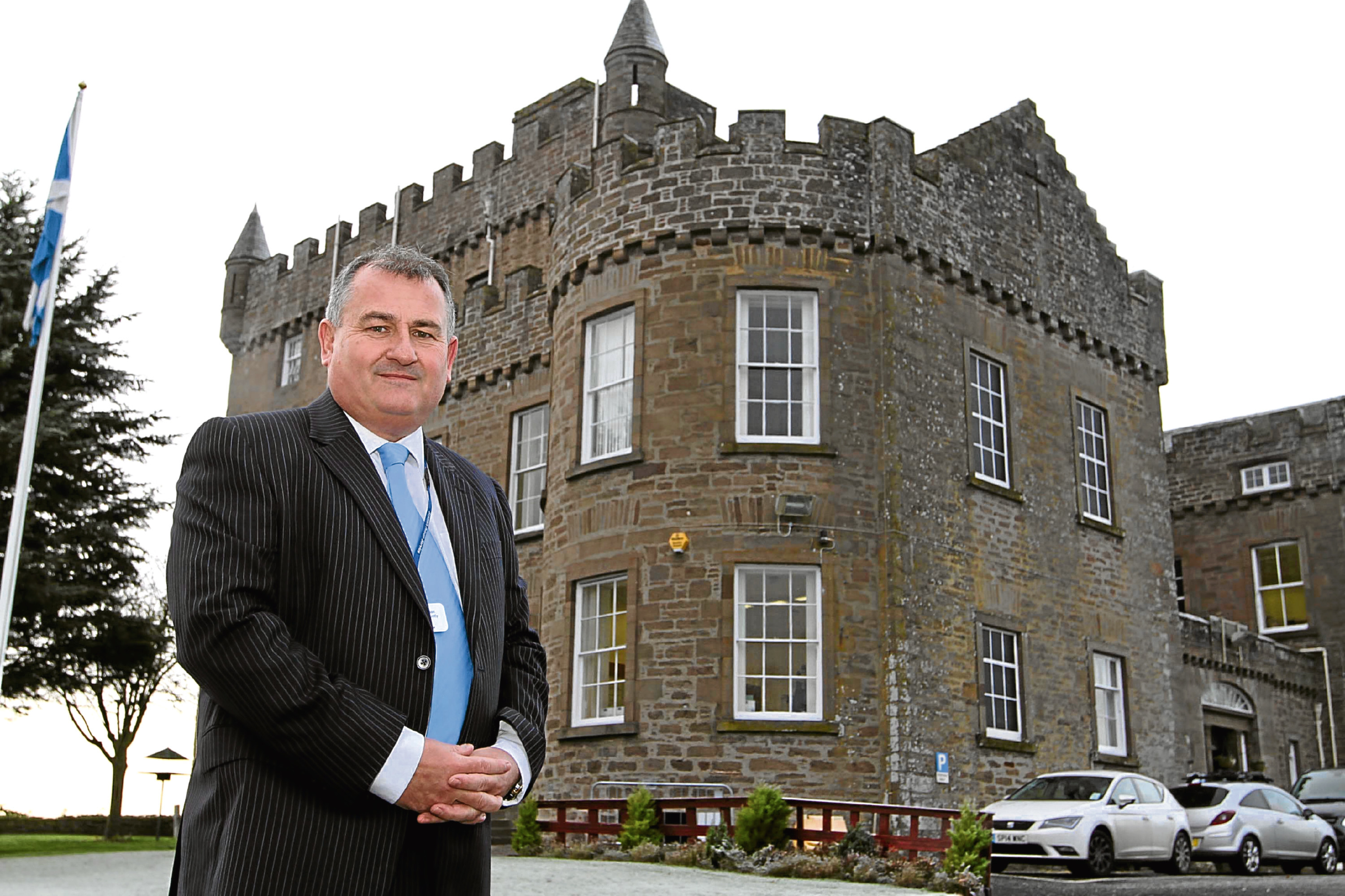 Andy Hodge pictured outside Castle Huntly.
