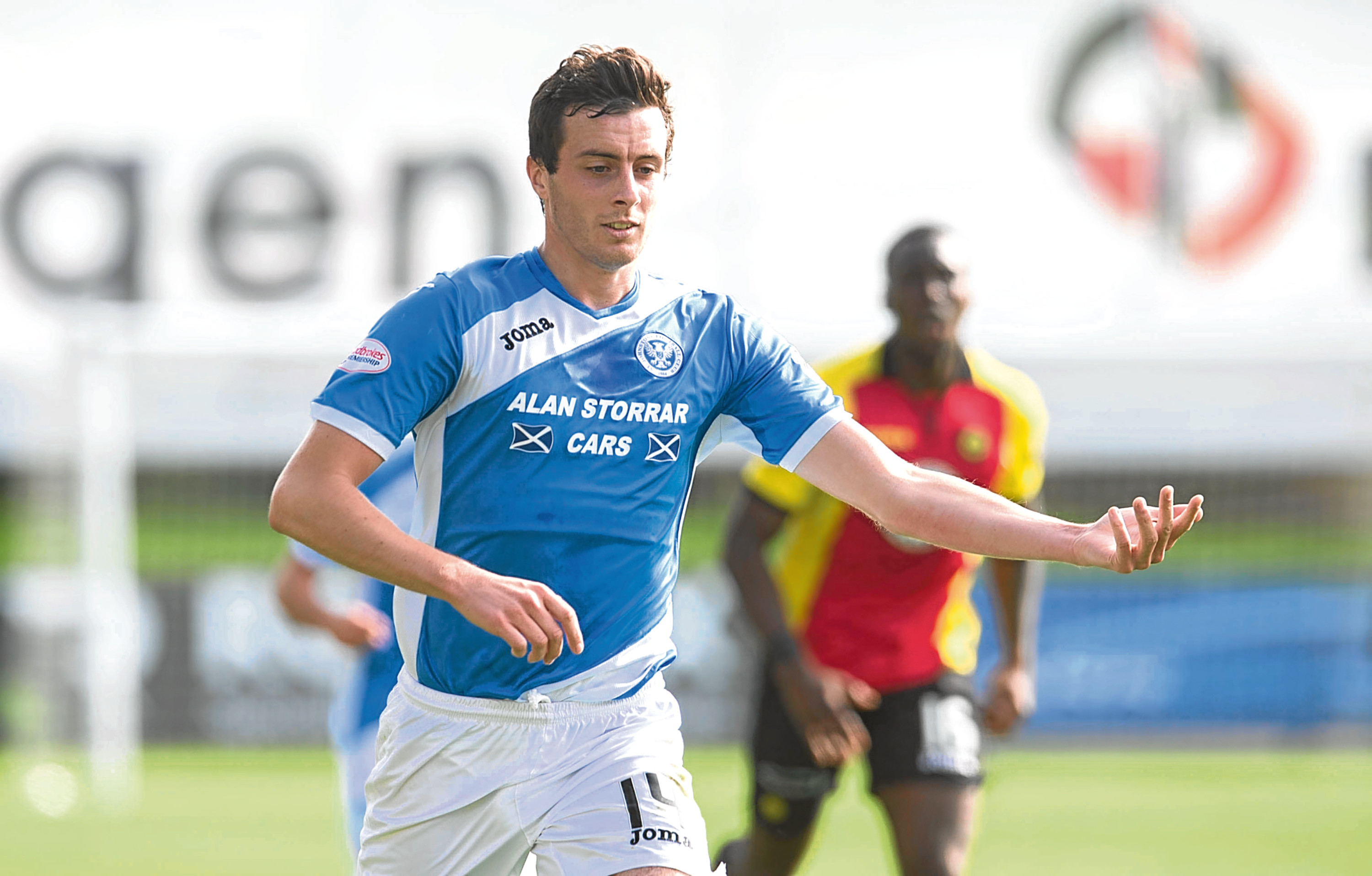 Defender Joe Shaughnessy is one of three injured players who will be fit again for St Johnstone.