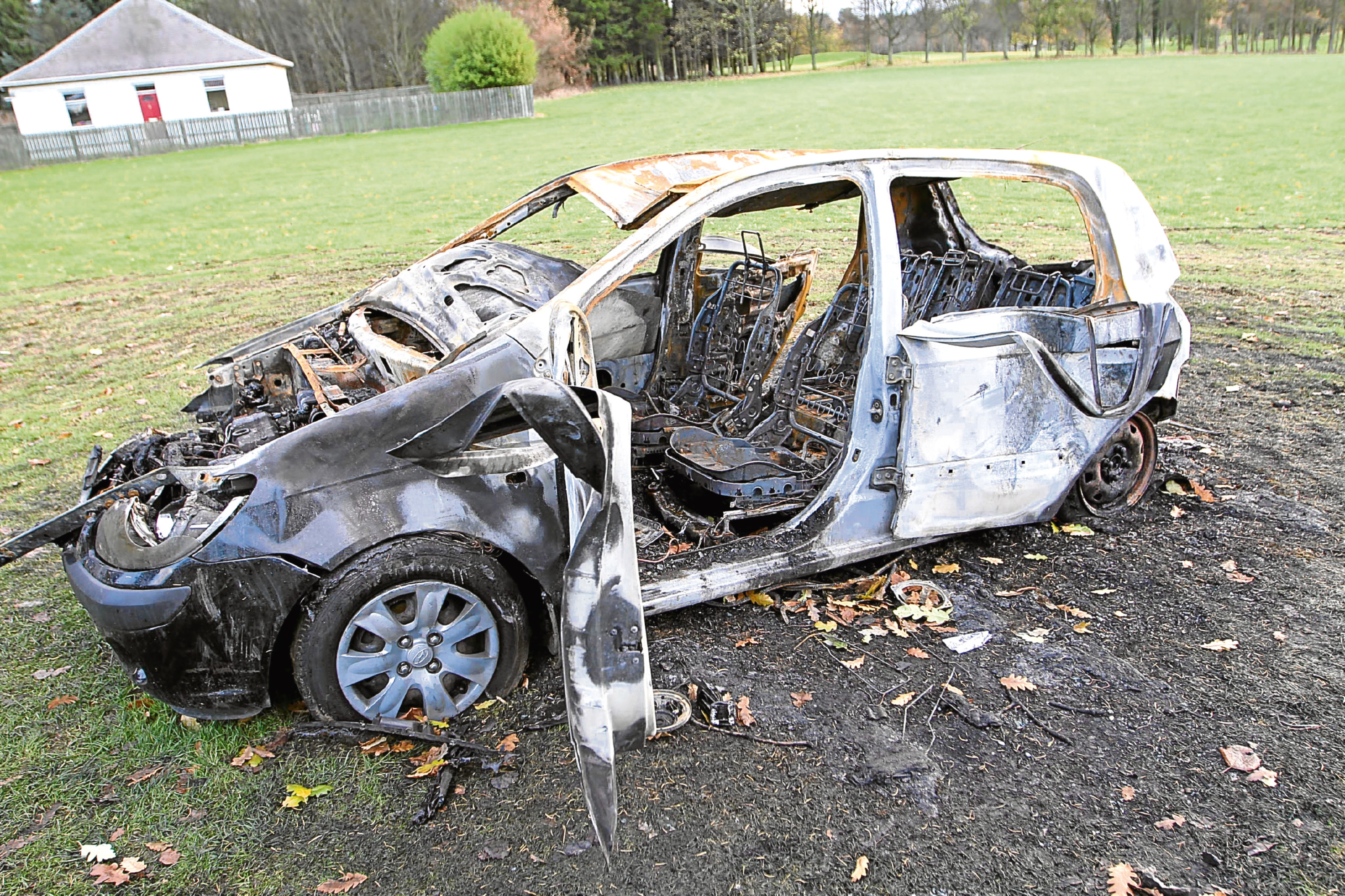 The car was completely destroyed in the blaze at Caird Park.