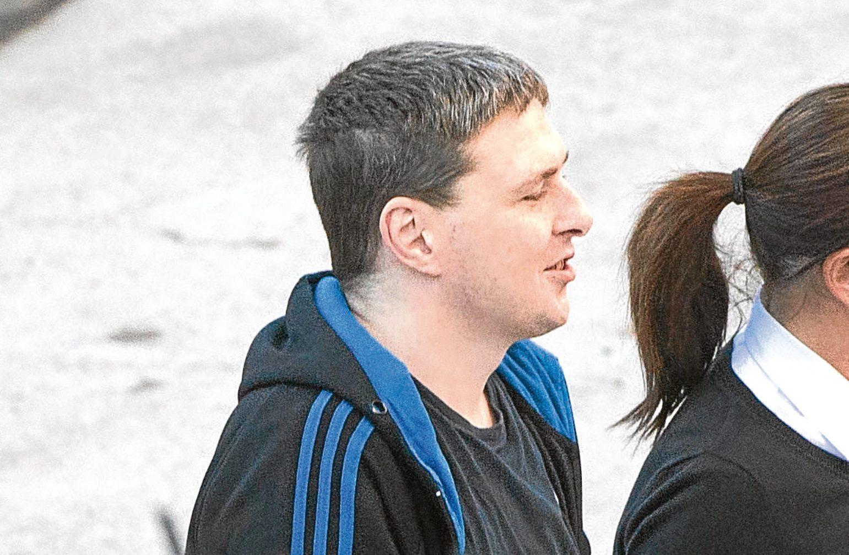 Alan MacMillan outside court.