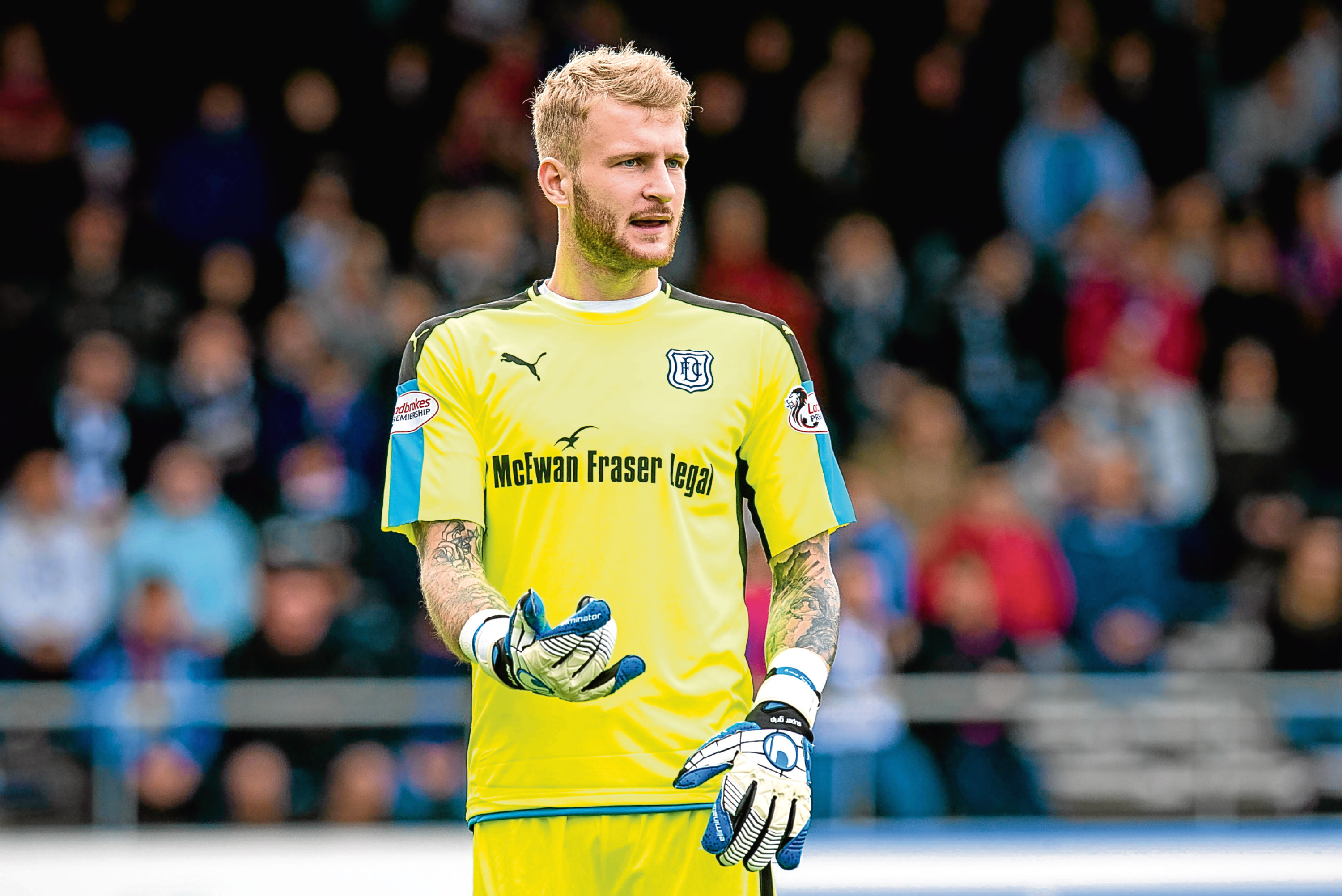 Dundee keeper Scott Bain was in the starting XI at the weekend after coming back from injury.