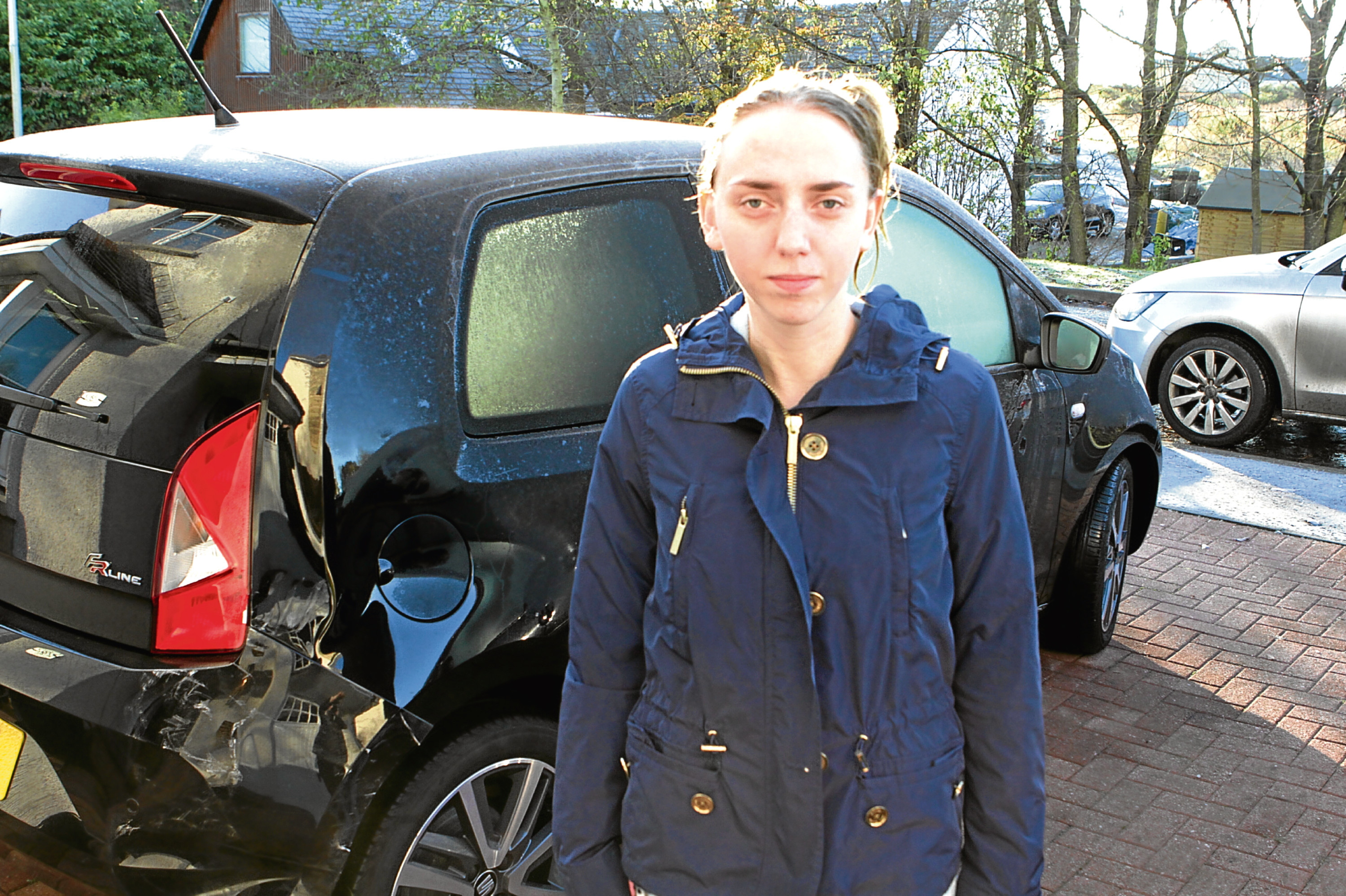 "Rebecca suffered ""severe whiplash"" in the accident."