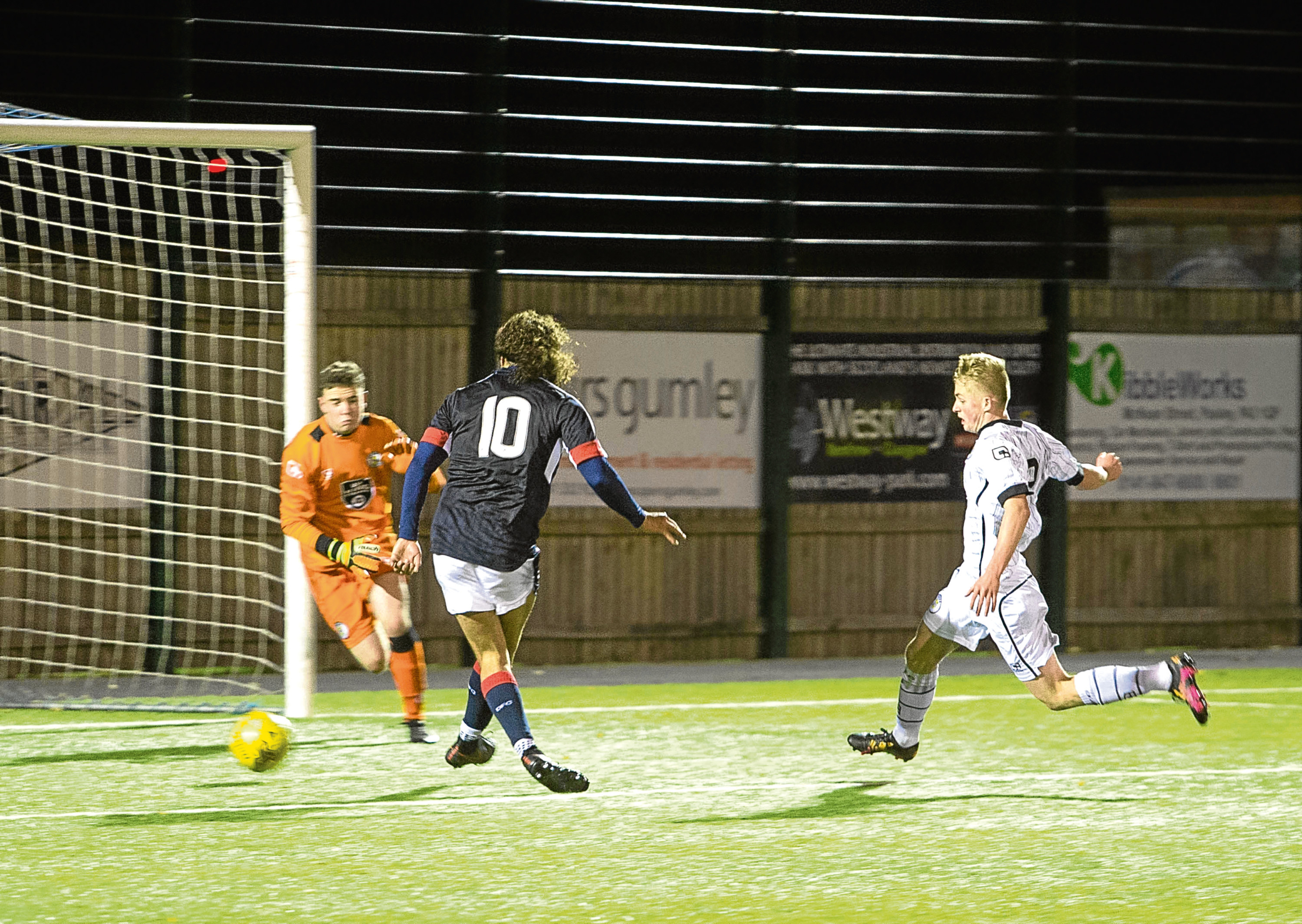 Dutchman Yordi Teijsse is pushing for a starting place after bagging a brace in Dundee's 4-1 Development Squad win against St Mirren (above).