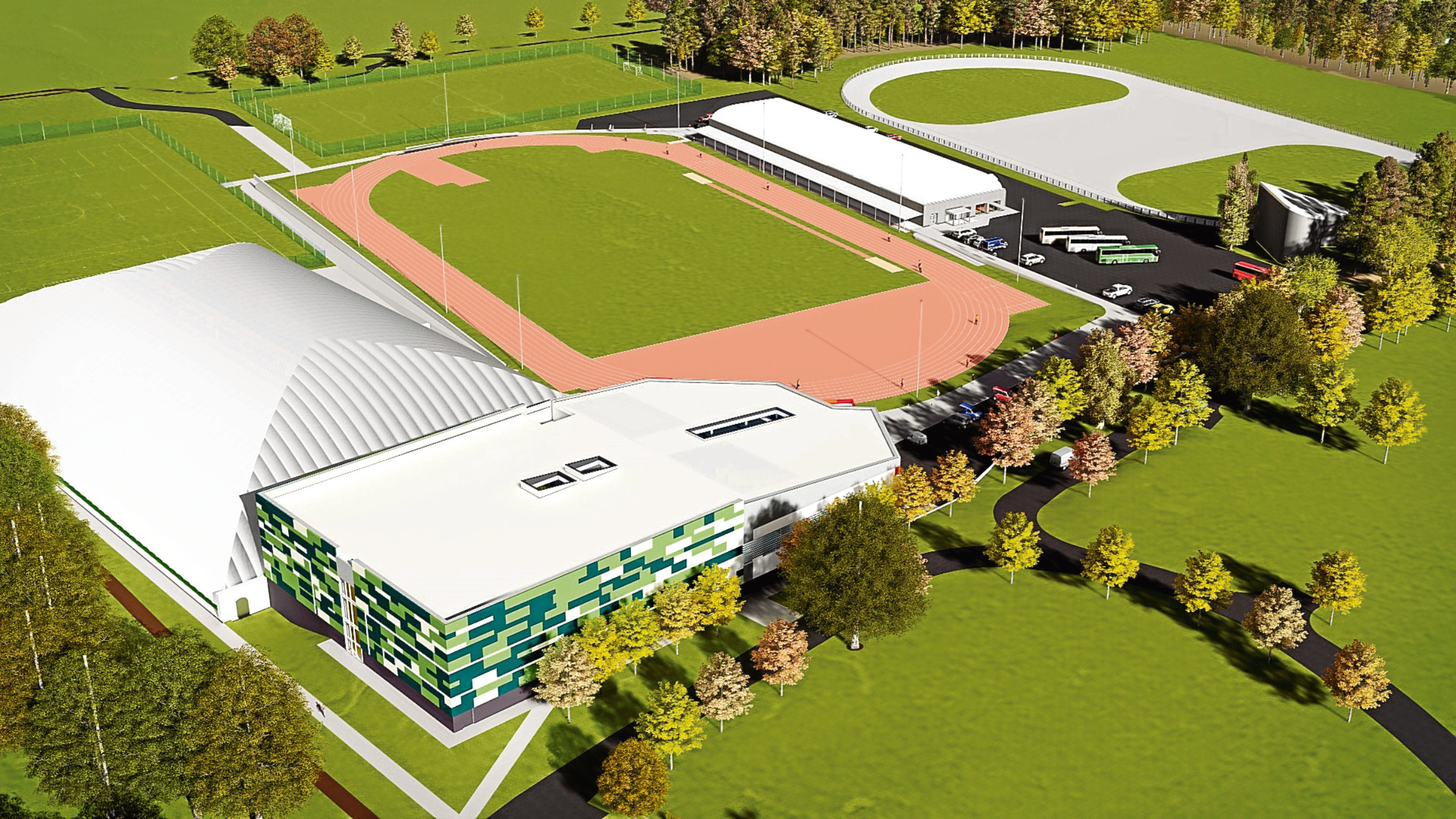An image of the proposed £21 million regional performance facility which if approved will be built at Caird Park.