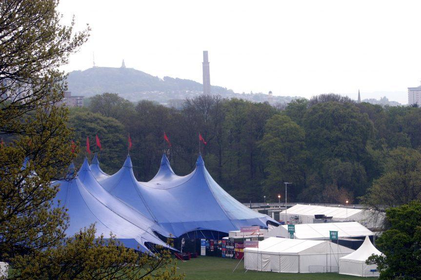 The Radio1 Big Weekend Site in 2003.