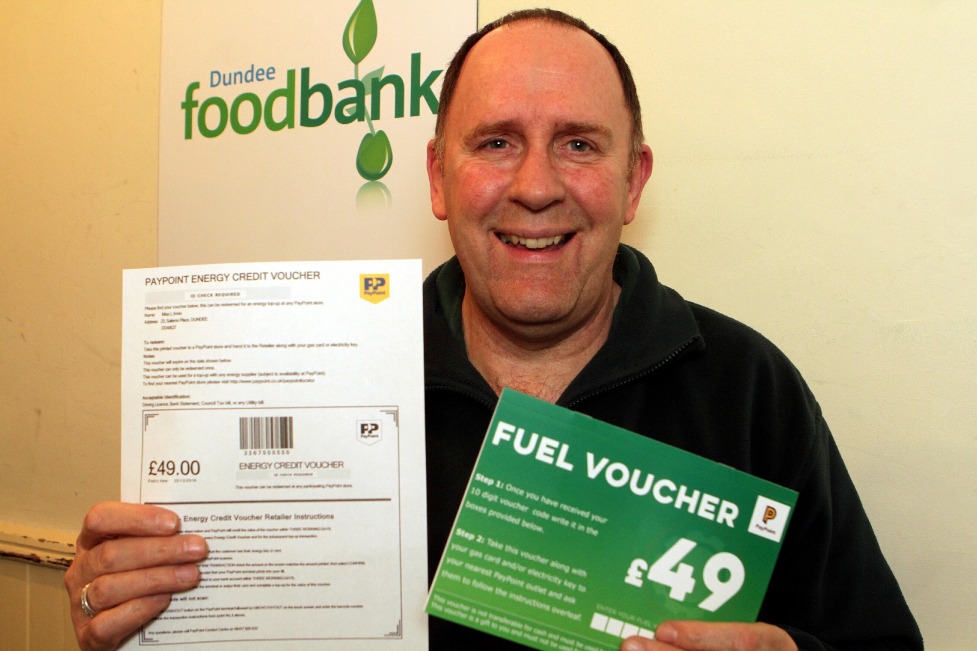 Ken Linton manager of Dundee Foodbank