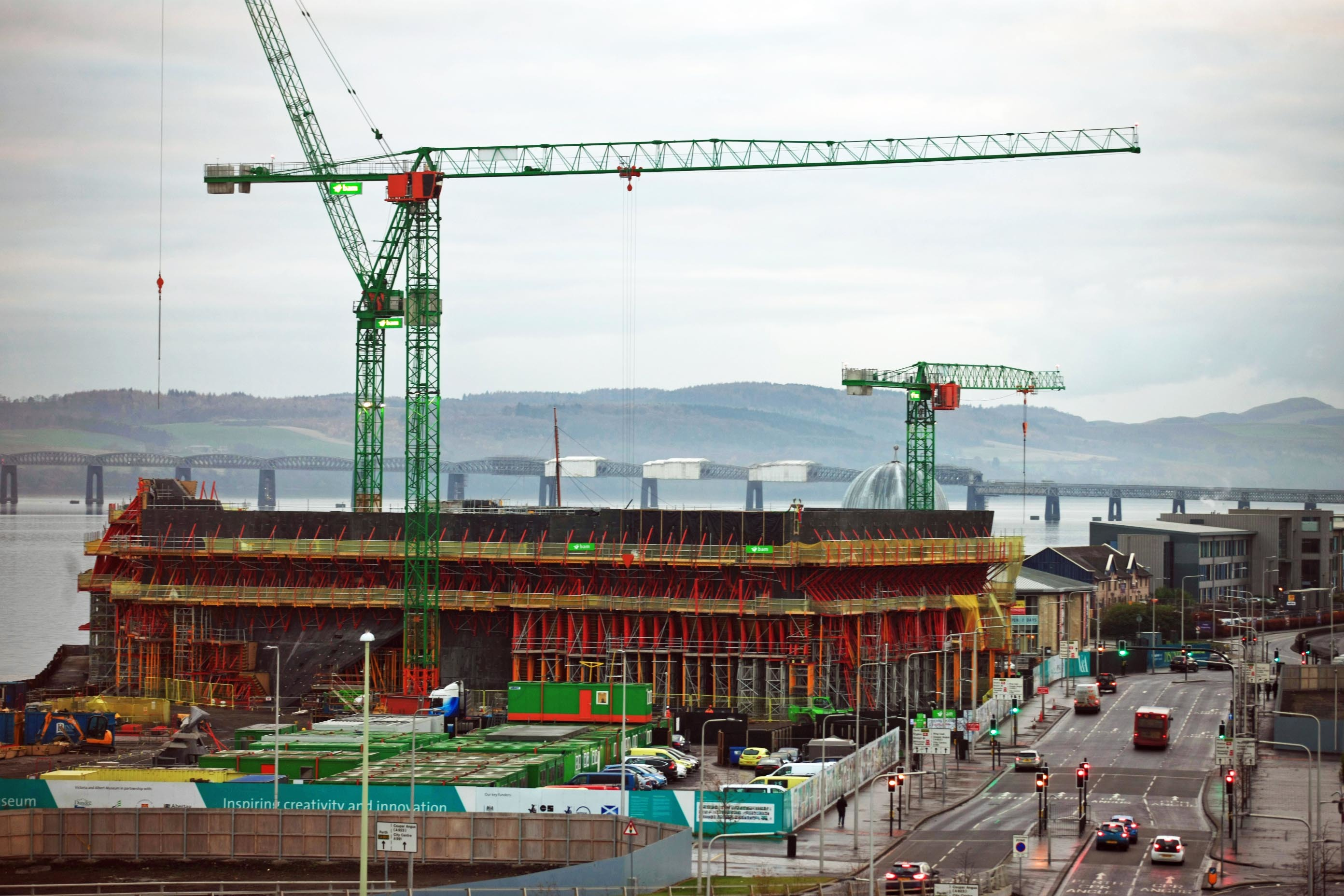 The V&A at Dundee Waterfront is well on its way to completion.