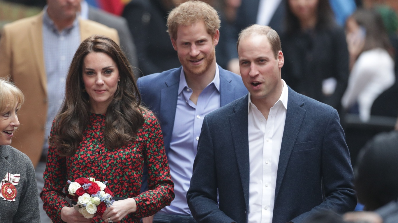 Prince Harry, Prince William and Kate Middleton (Yui Mok/PA)